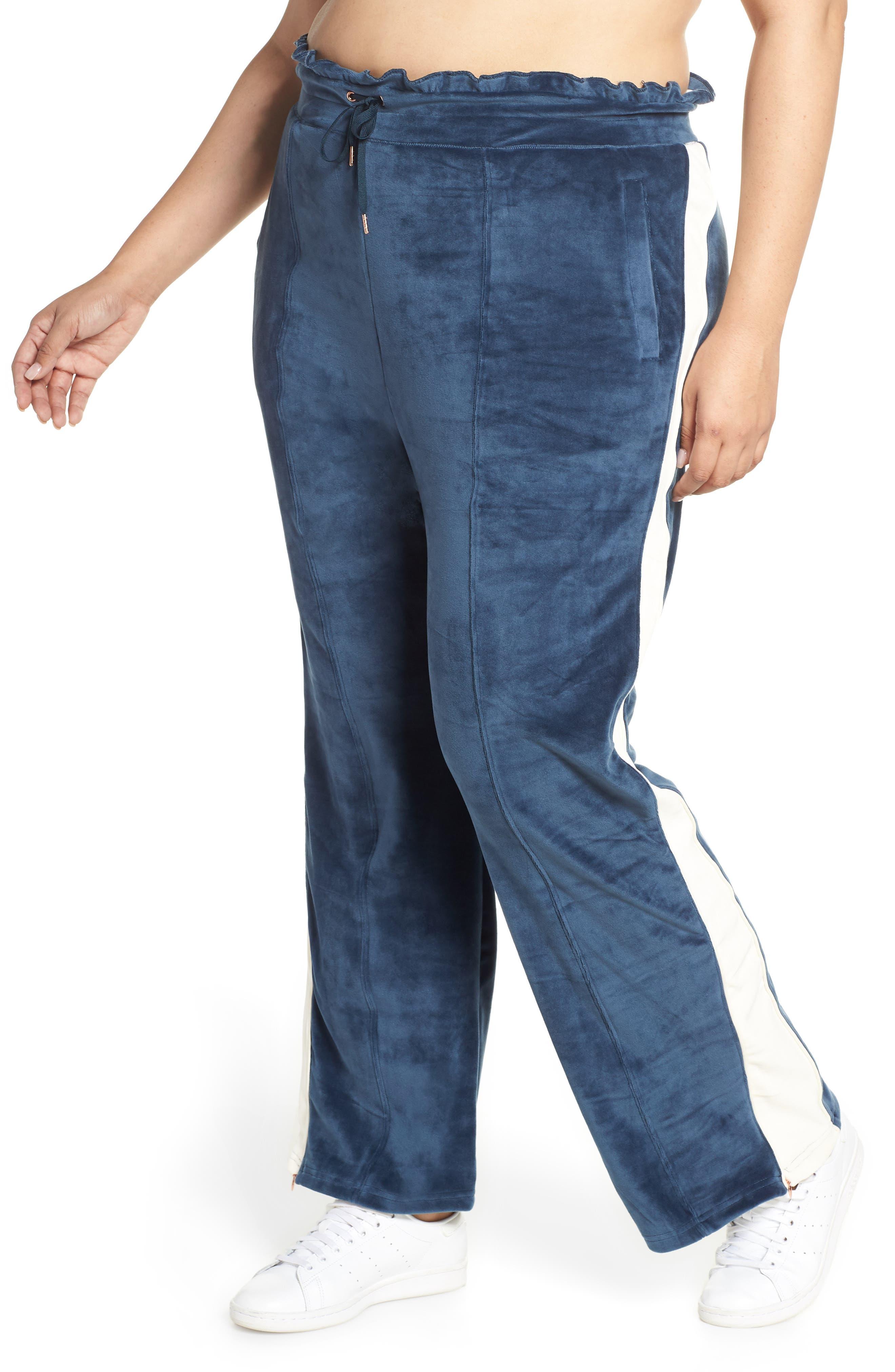 SHAPE ACTIVEWEAR Techno Velour Track Pants, Main, color, INSIGNIA