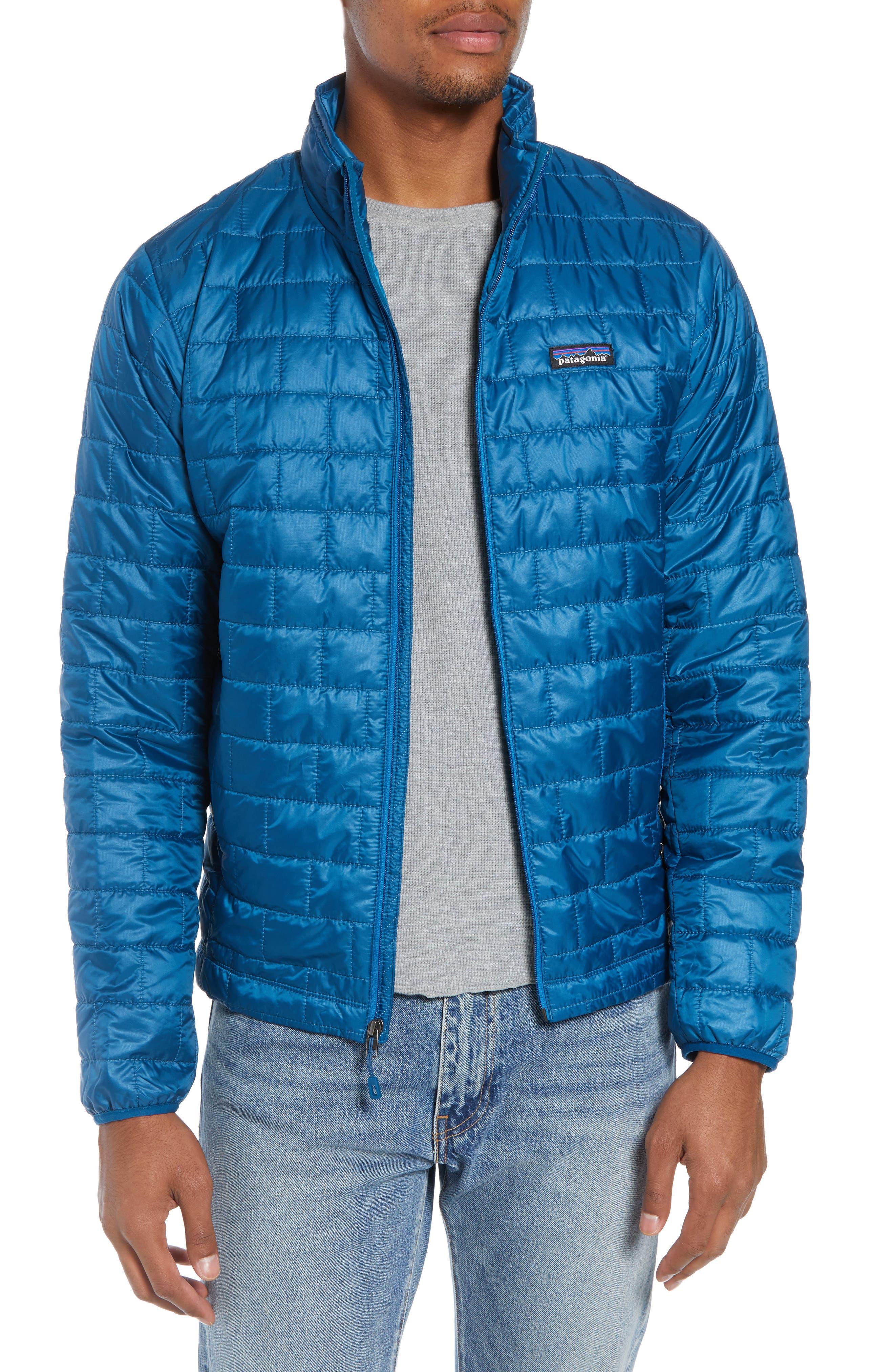 PATAGONIA, 'Nano Puff<sup>®</sup>' Water Resistant Jacket, Main thumbnail 1, color, BIG SUR BLUE W/ BALKAN BLUE