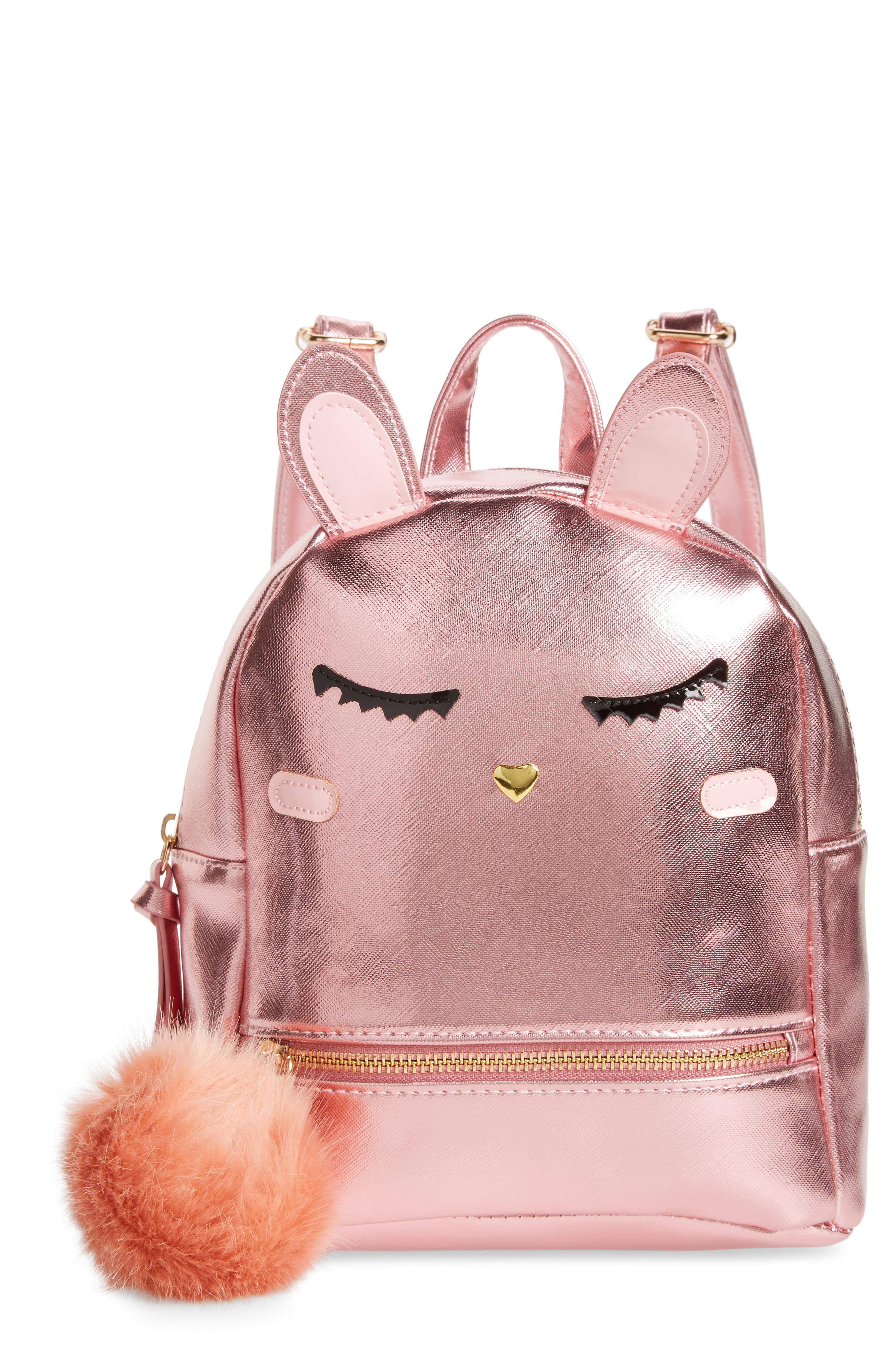 Girls Under One Sky Bunny Mini Backpack  Pink
