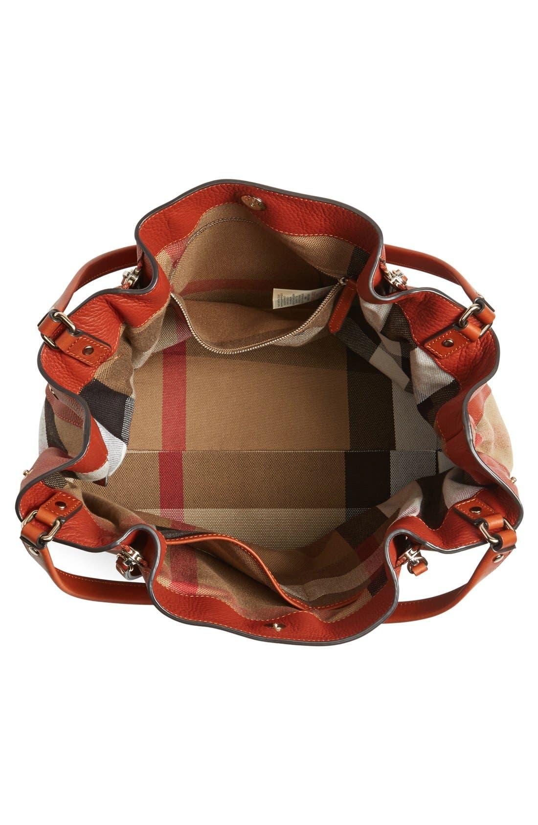 BURBERRY, 'Medium Maidstone' Leather Tote, Alternate thumbnail 2, color, 200