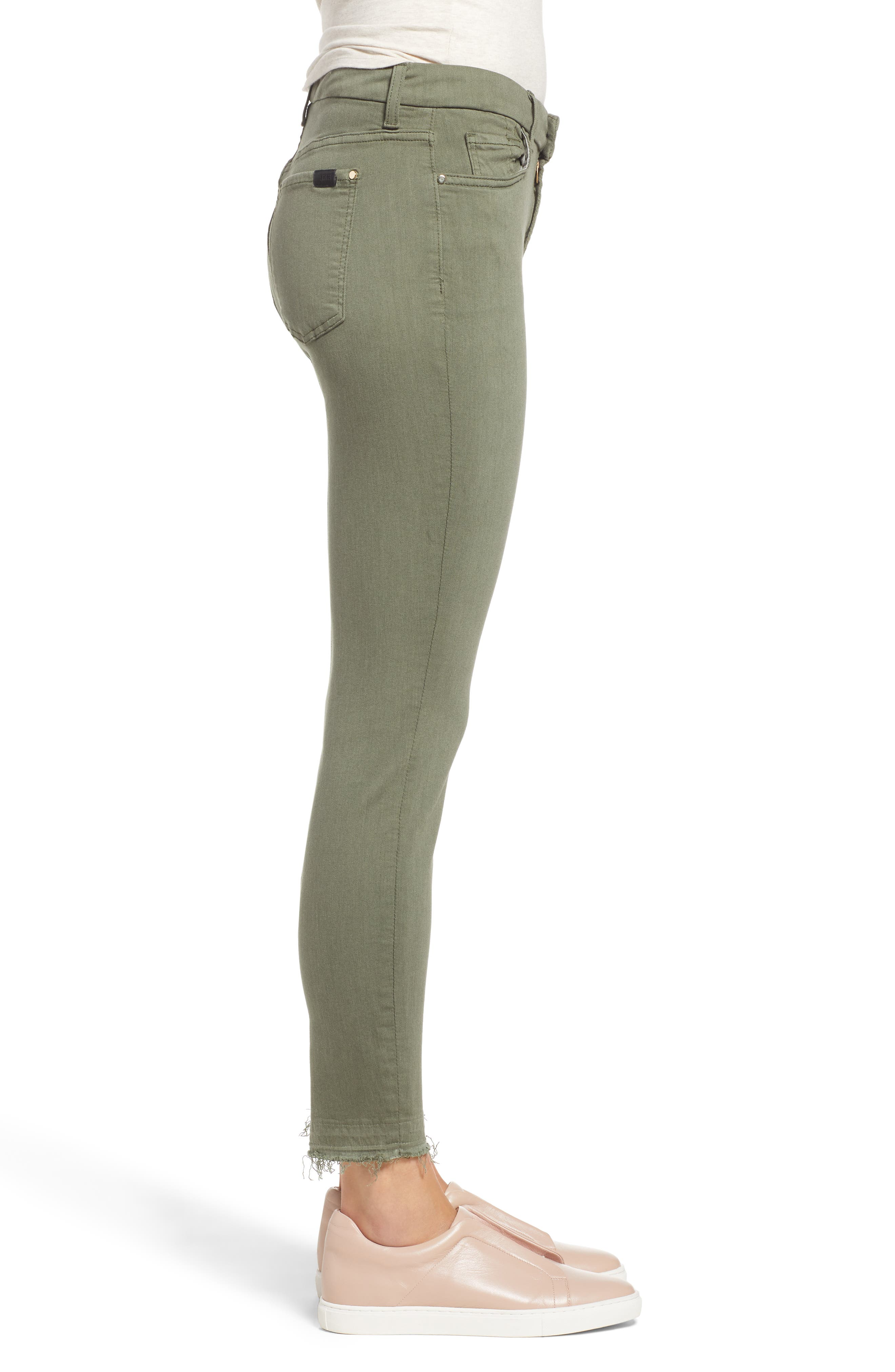 JEN7 BY 7 FOR ALL MANKIND, Release Hem Colored Ankle Skinny Jeans, Alternate thumbnail 4, color, WASHED FATIGUE