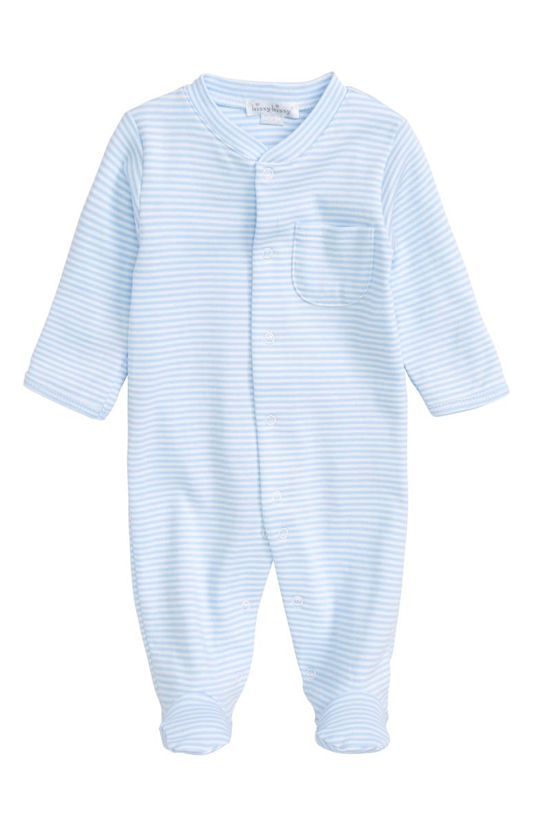 Kissy Kissy Stripe Pima Cotton Footie (Baby Boys) | Nordstrom