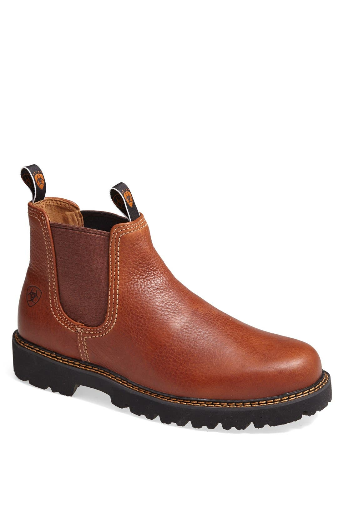ARIAT 'Spot Hog' Chelsea Boot, Main, color, PEANUT