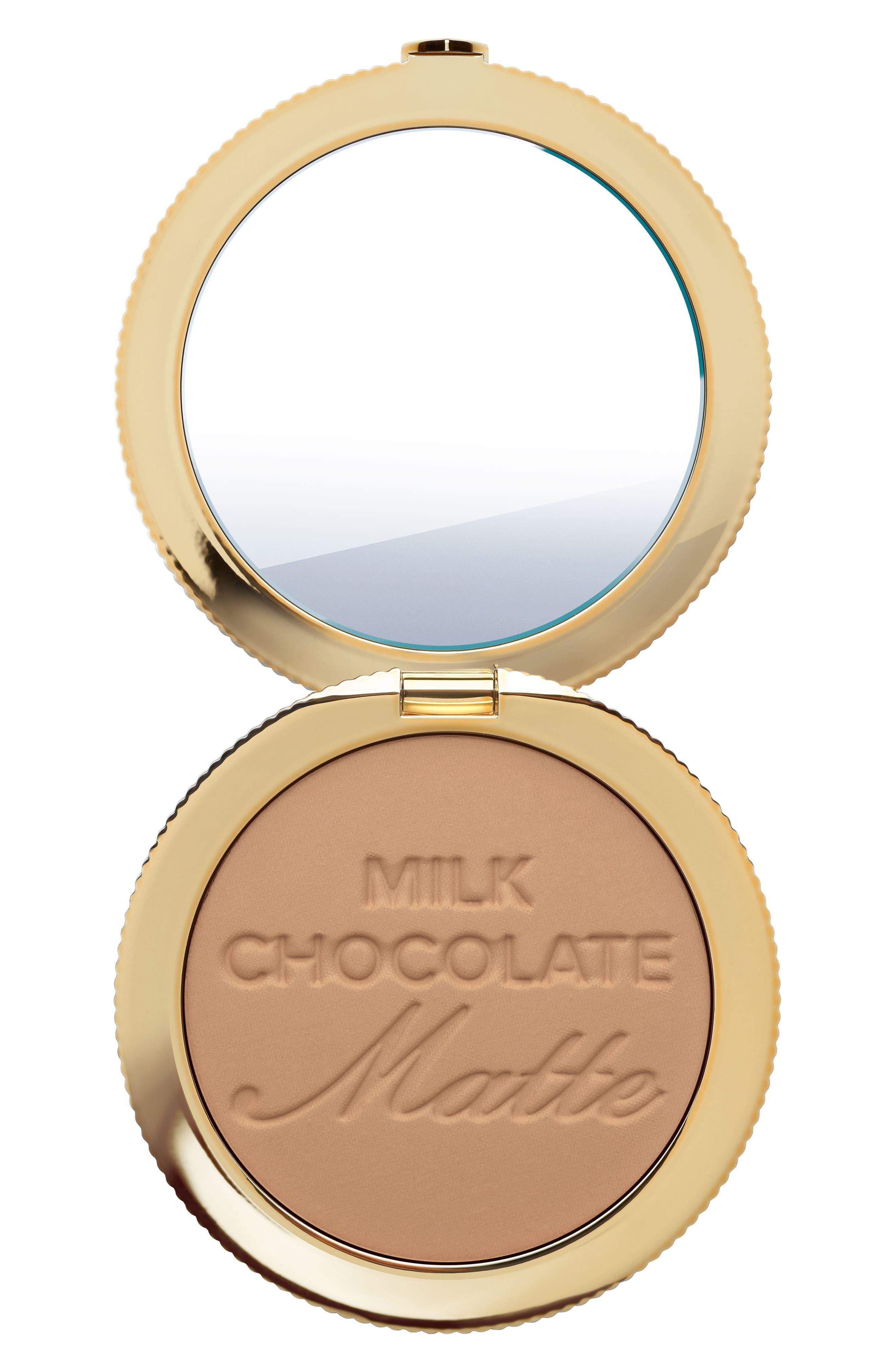 TOO FACED, Chocolate Soleil Bronzer, Alternate thumbnail 4, color, MILK CHOCOLATE SOLEIL