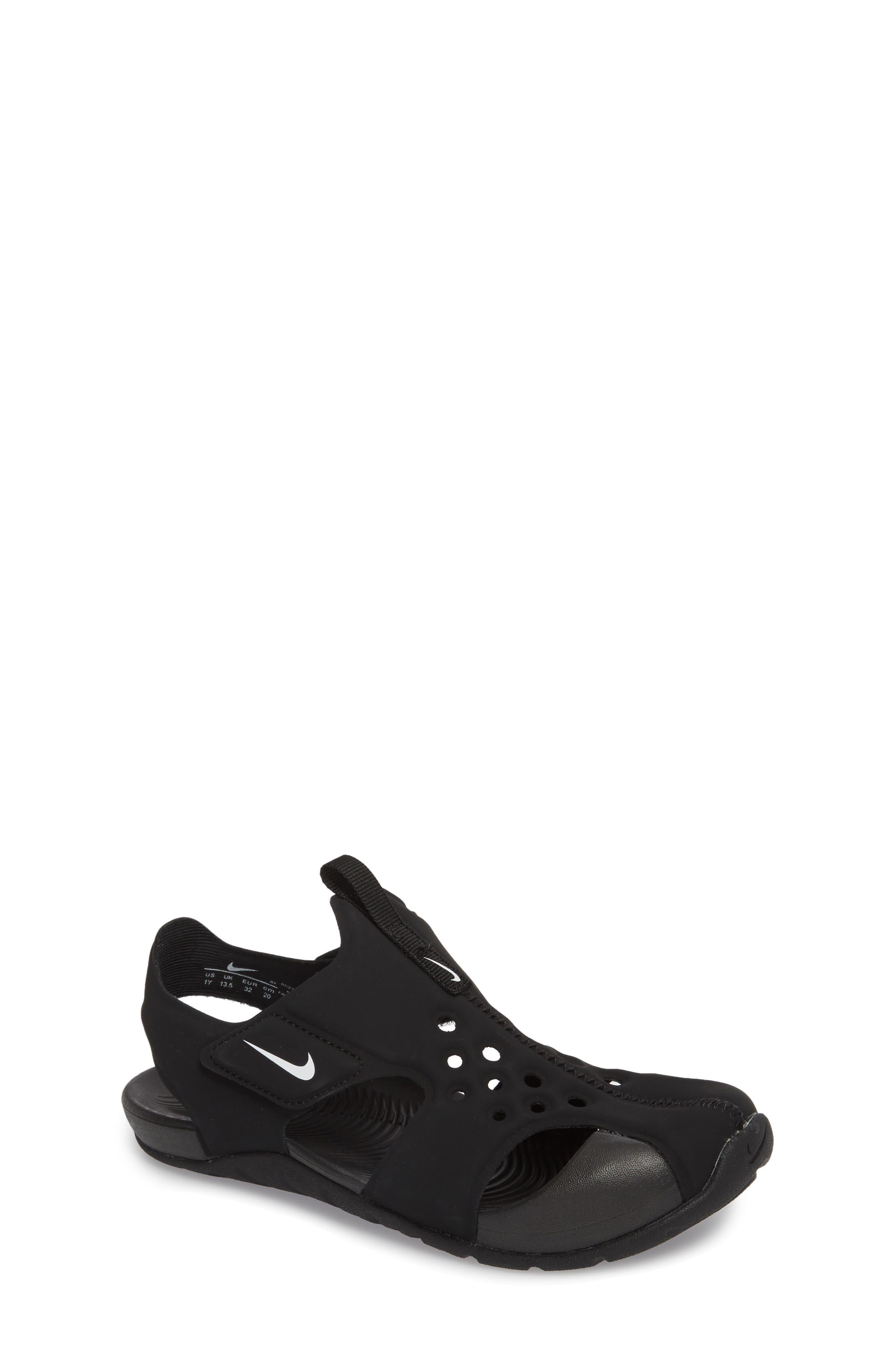 NIKE, Sunray Protect 2 Sandal, Main thumbnail 1, color, BLACK/ WHITE