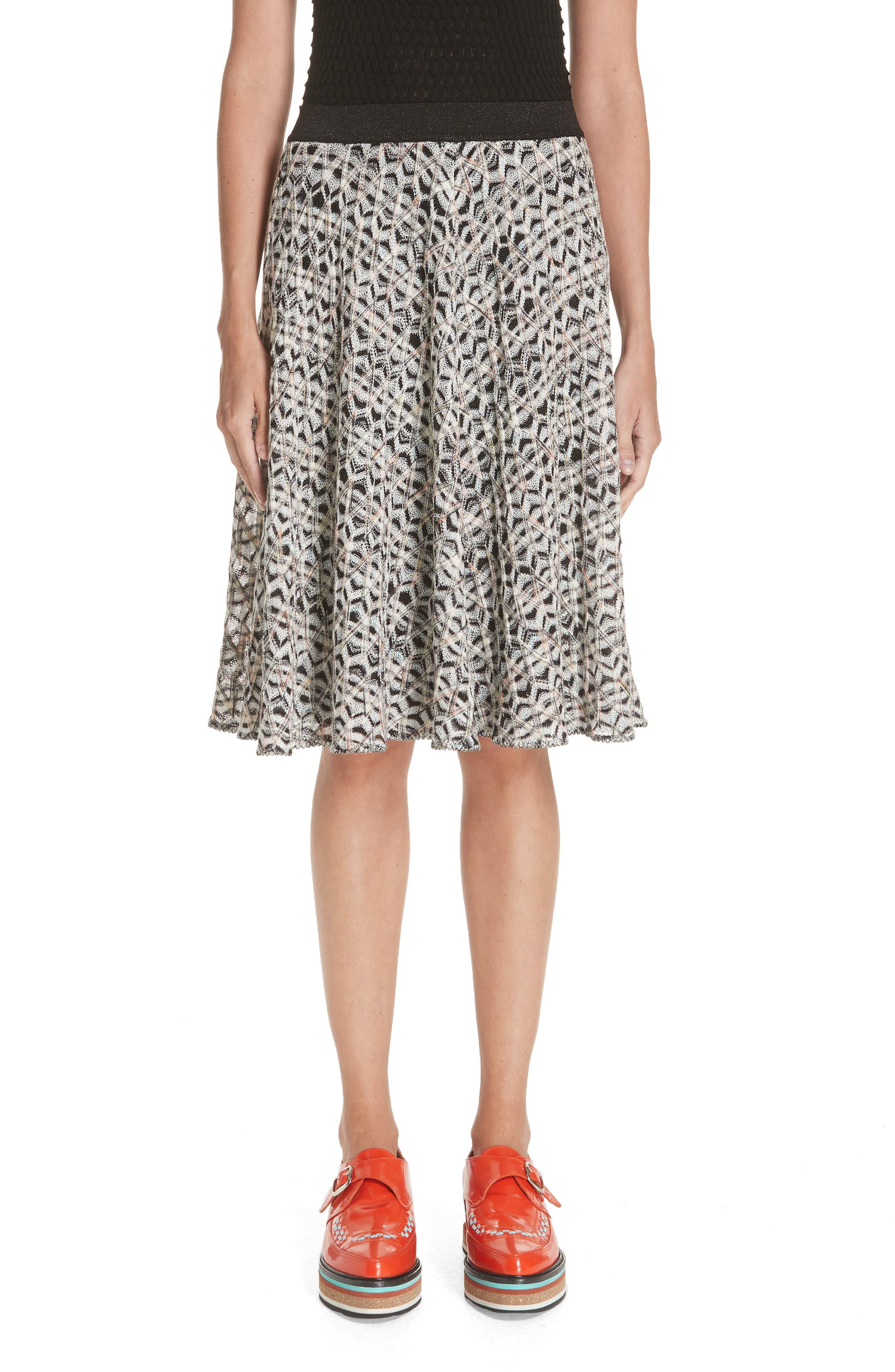 MISSONI Zig Zag A-Line Skirt, Main, color, MULTI