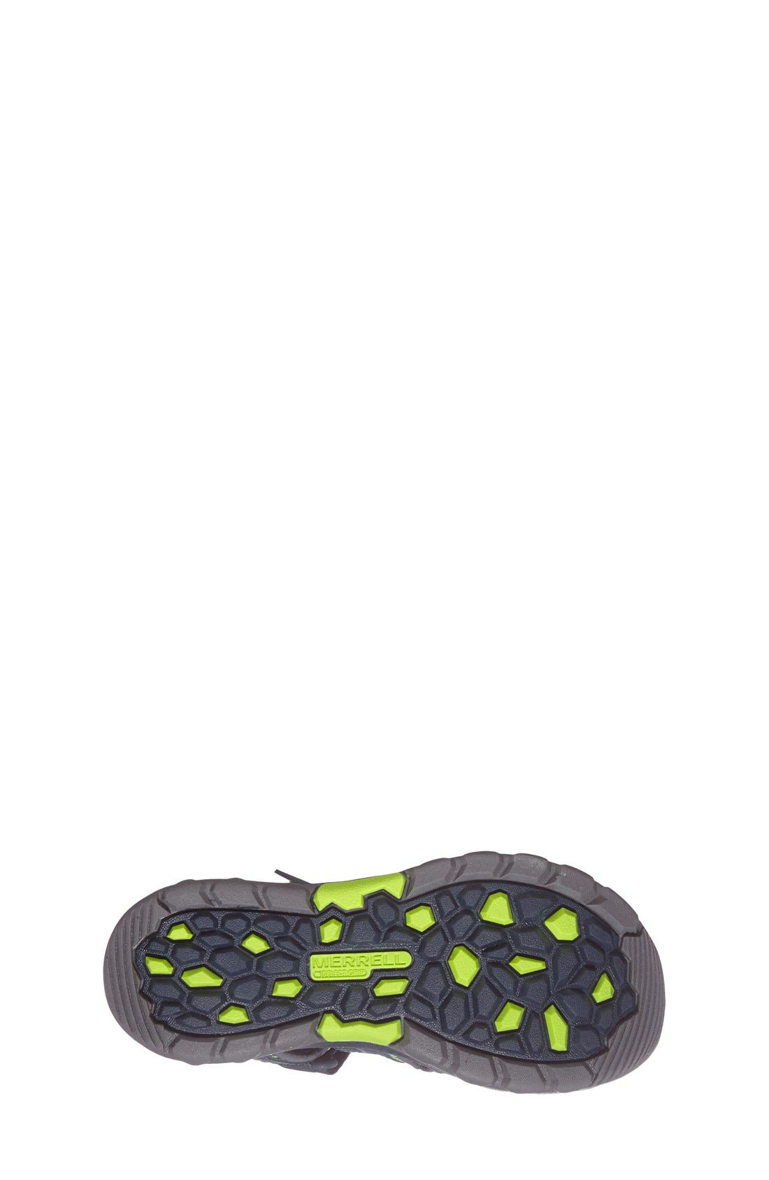 MERRELL, Hydro Water Sandal, Alternate thumbnail 4, color, NAVY/ GREEN