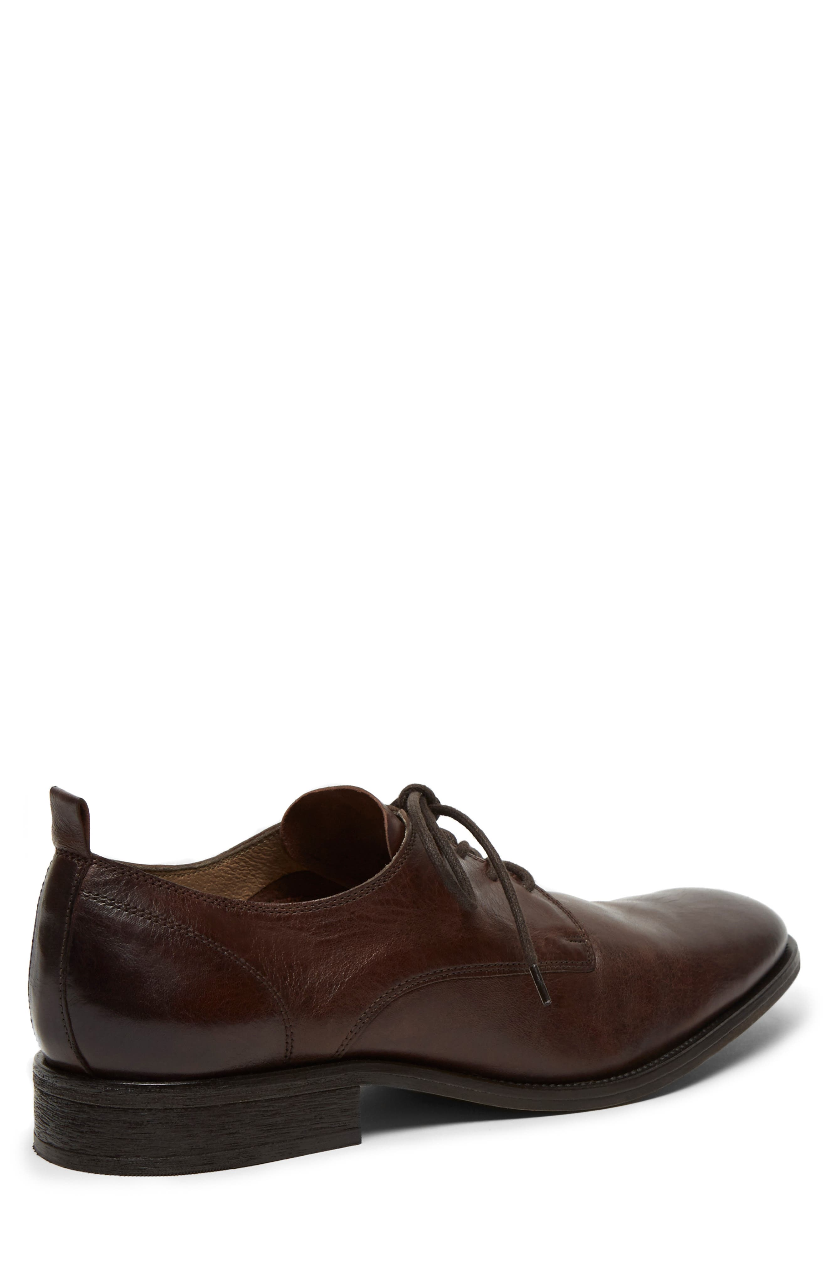 KENNETH COLE NEW YORK, Indio Plain Toe Derby, Alternate thumbnail 5, color, BROWN LEATHER