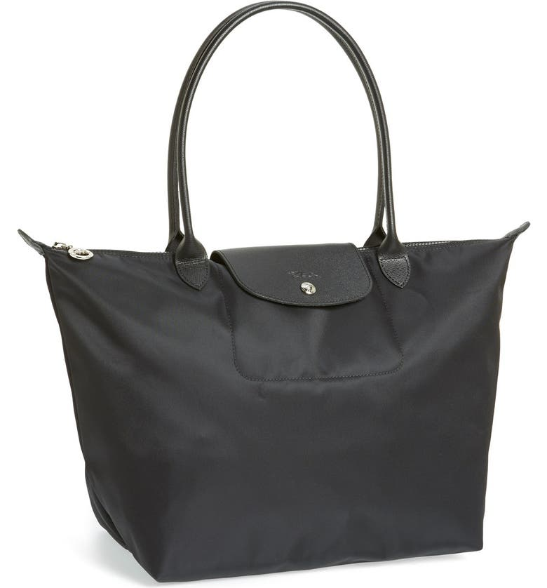 LONGCHAMP 'Large Le Pliage Neo' Nylon Tote, Main, color, BLACK