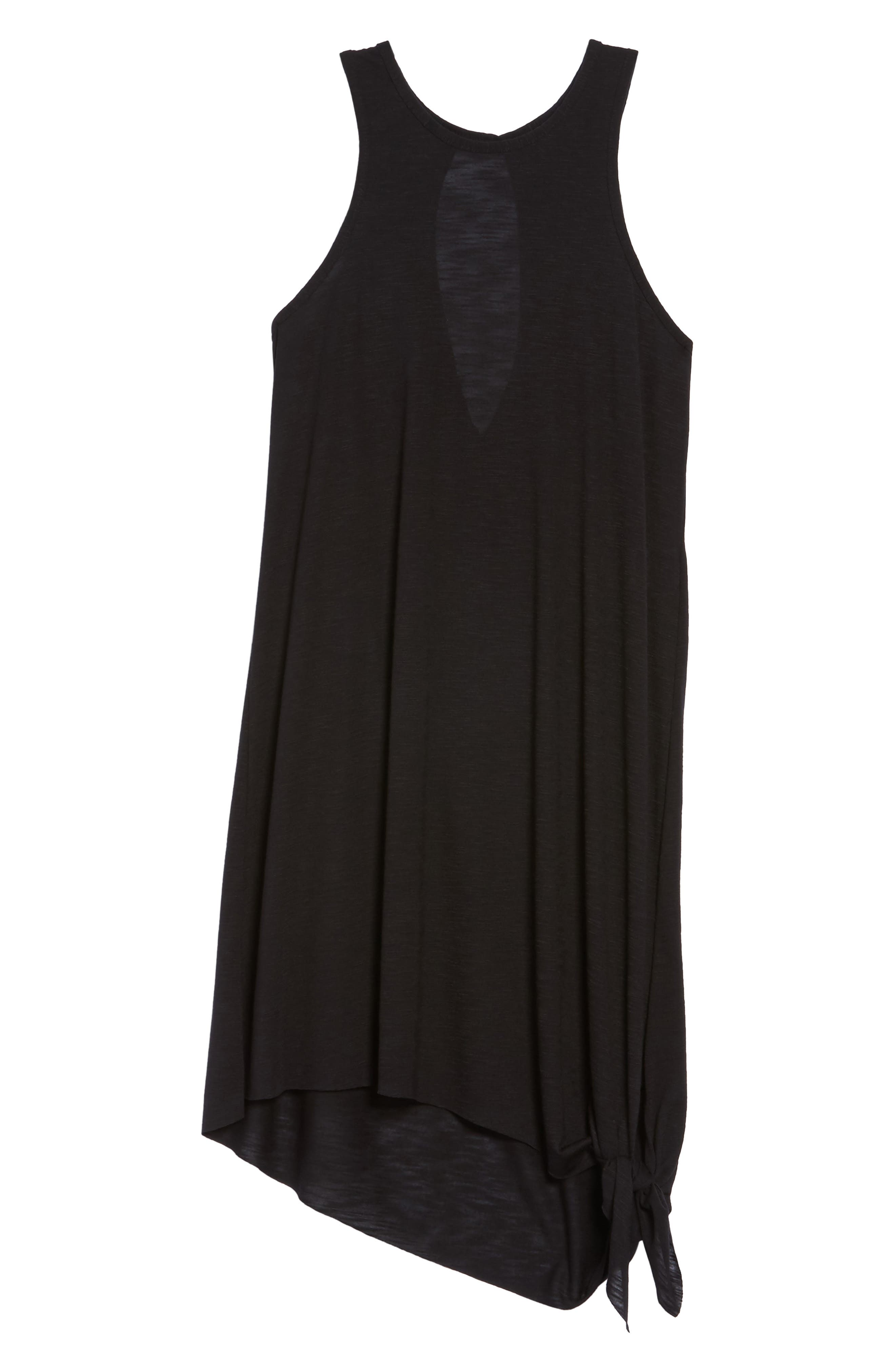BECCA, Breezy Basics Cover-Up Dress, Alternate thumbnail 7, color, BLACK