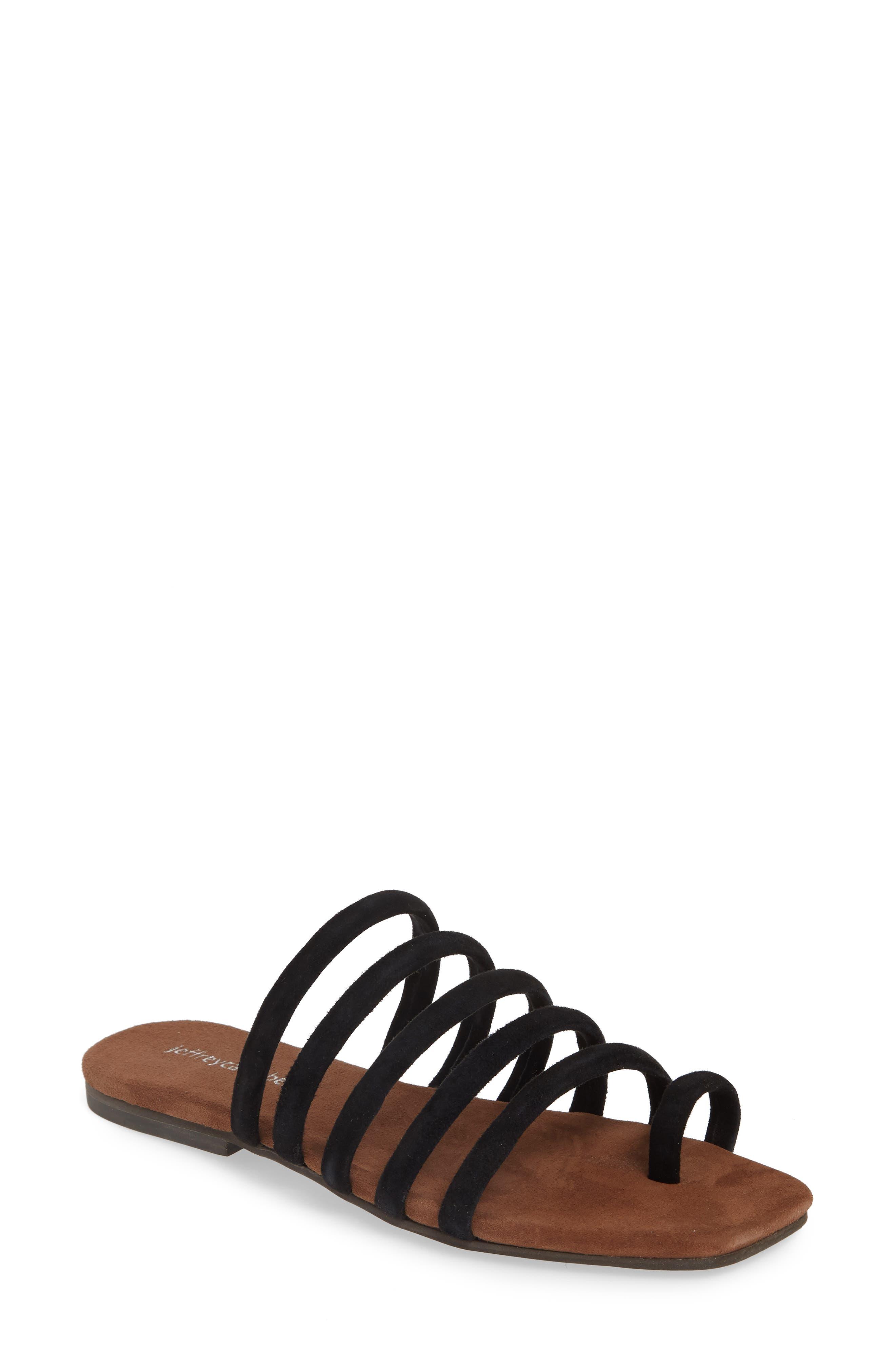 JEFFREY CAMPBELL, Coniper Slide Sandal, Main thumbnail 1, color, BLACK SUEDE