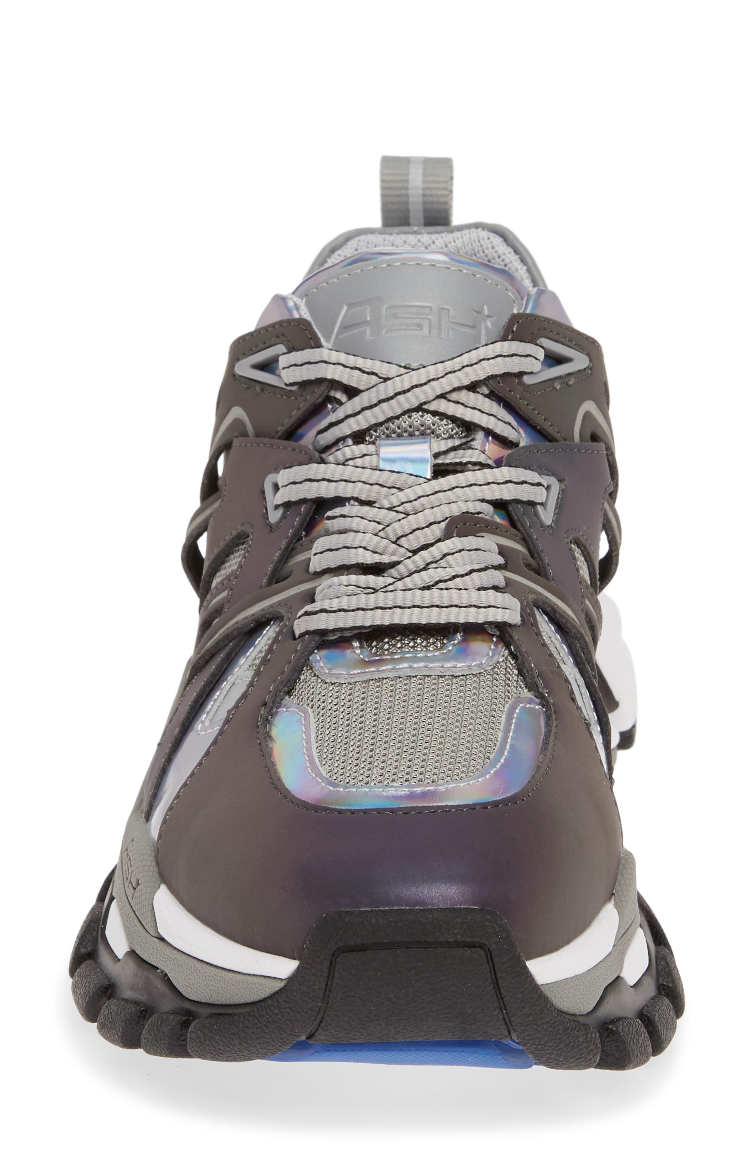 ASH, Flash Sneaker, Alternate thumbnail 4, color, GREY/ STROBE RAINBOW
