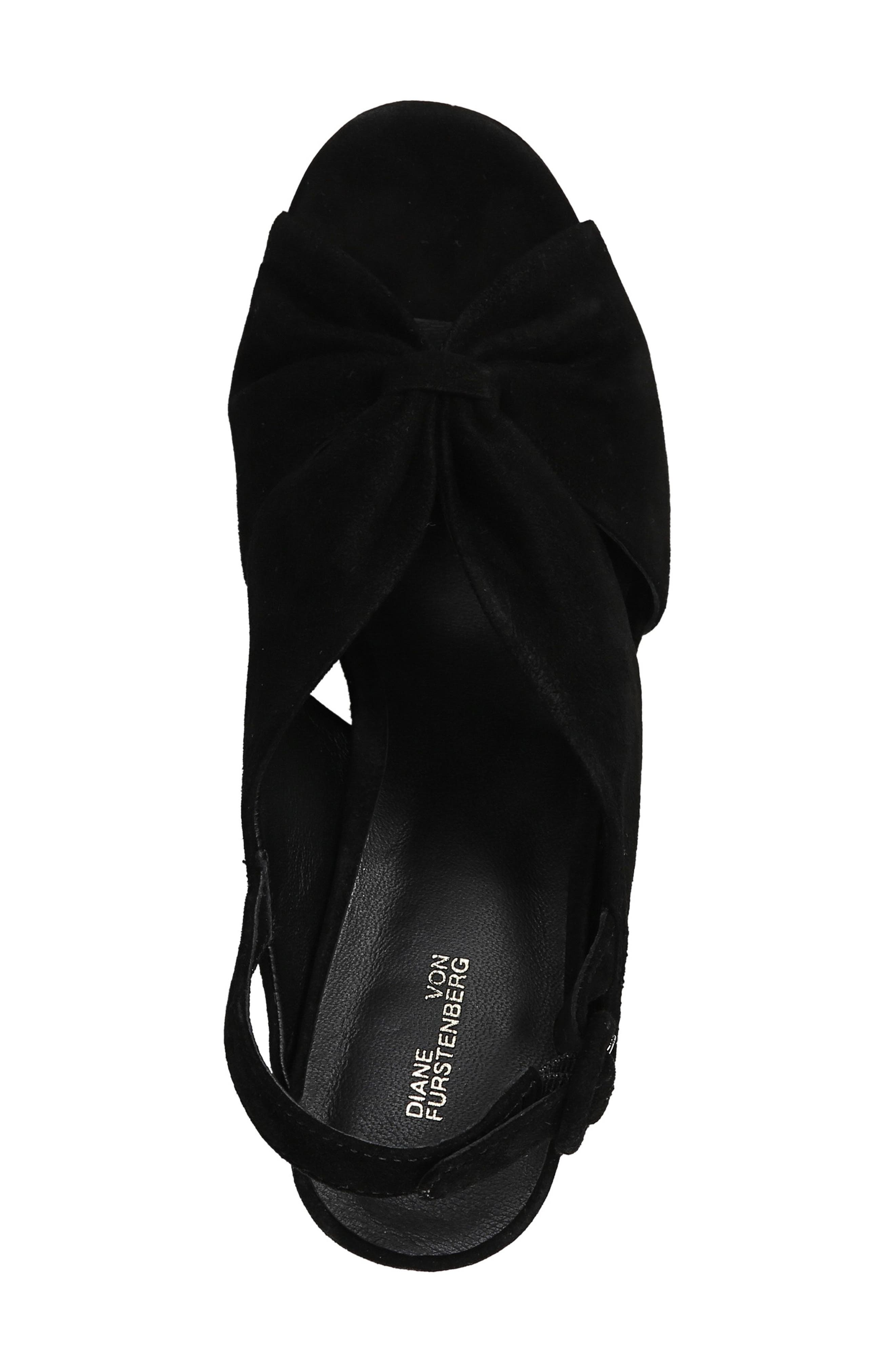 DIANE VON FURSTENBERG, Heidi Platform Sandal, Alternate thumbnail 5, color, BLACK