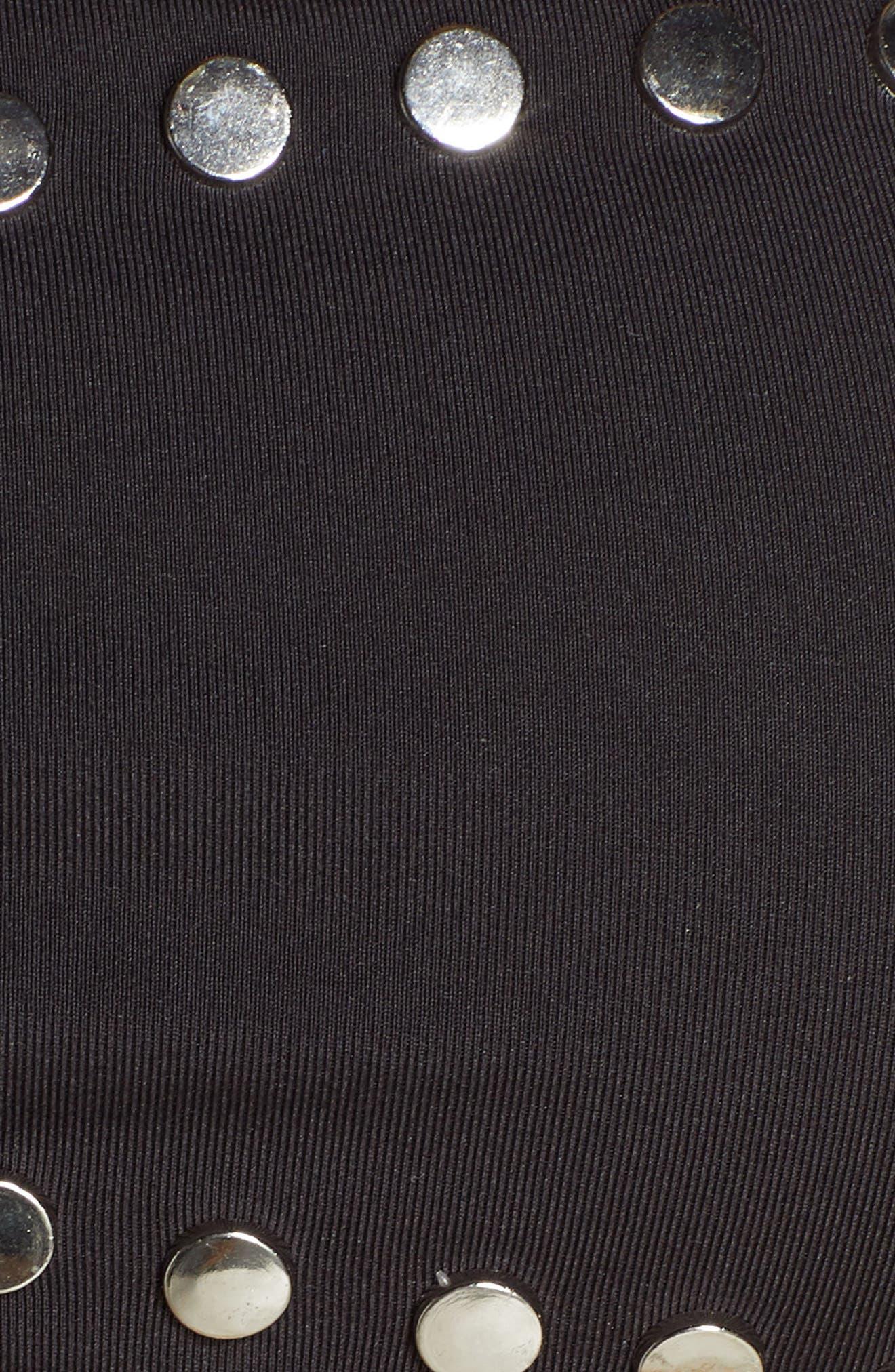 DOLCE VITA, Stellar Studs Bandeau Swim Top, Alternate thumbnail 7, color, BLACK