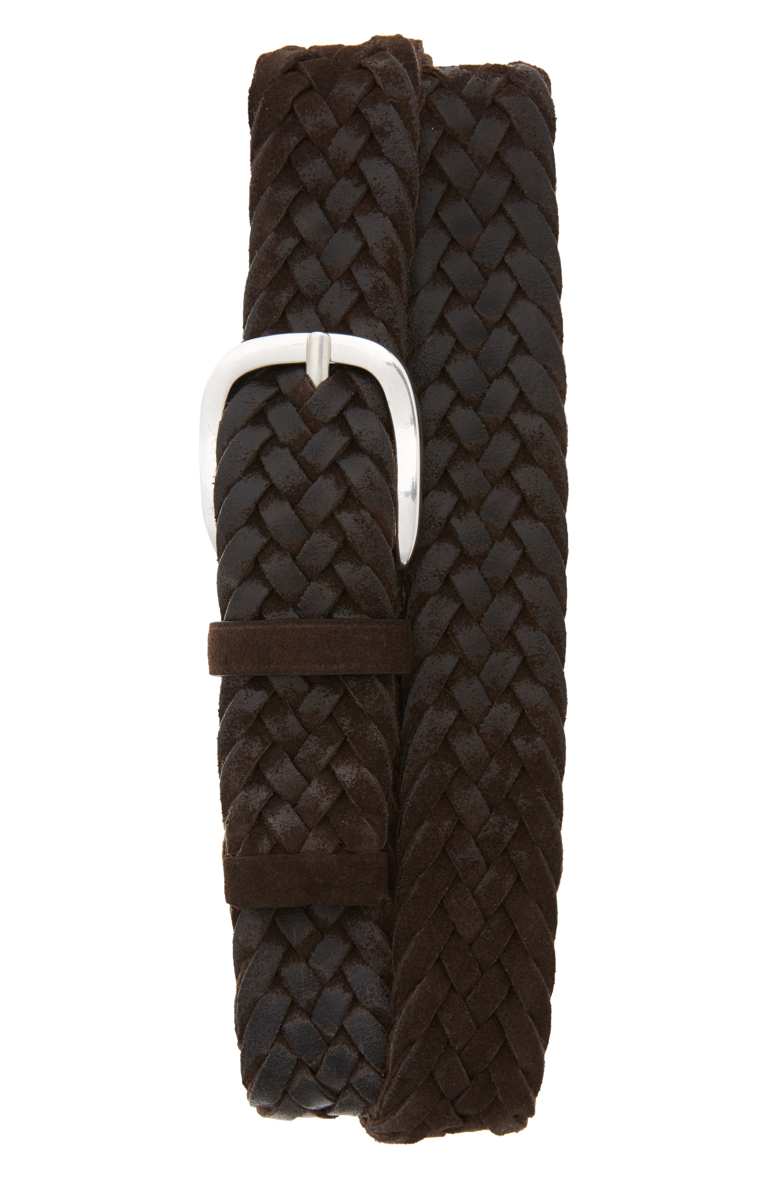 ORCIANI, Winter Suede Woven Belt, Main thumbnail 1, color, 200