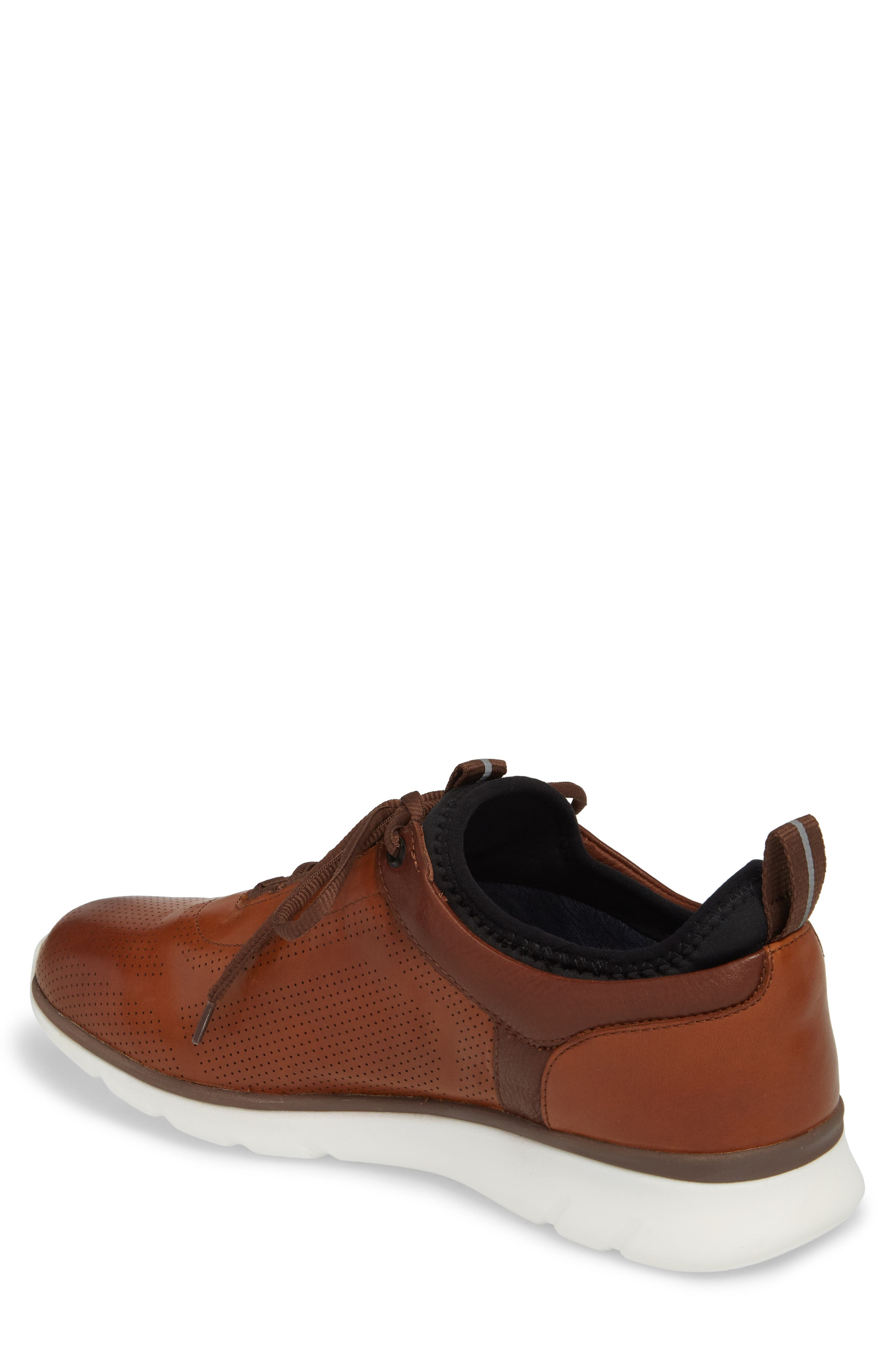 JOHNSTON & MURPHY, Prentiss XC4<sup>®</sup> Waterproof Sneaker, Alternate thumbnail 2, color, MAHOGANY LEATHER