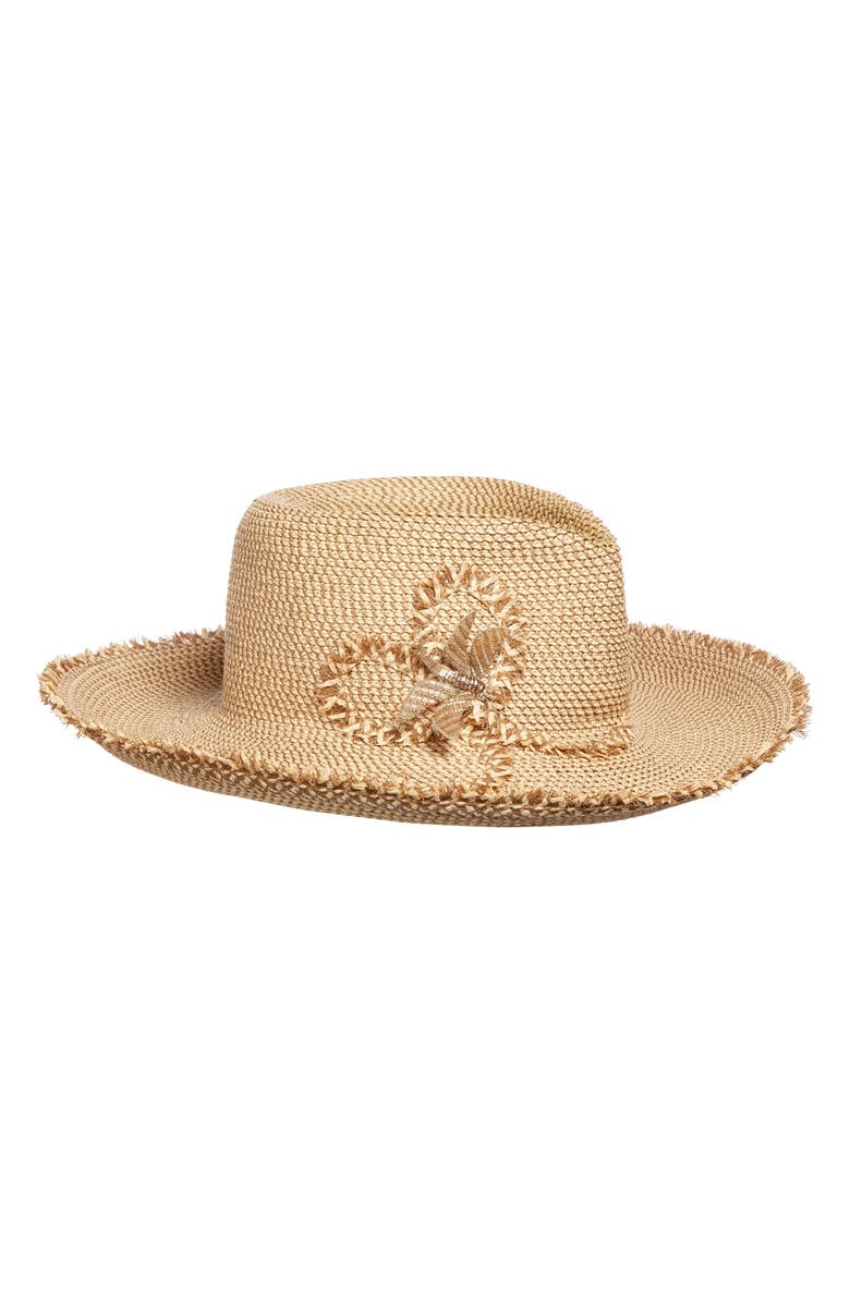 Eric Javits DRAGONFLY SQUISHEE SUN HAT - BROWN