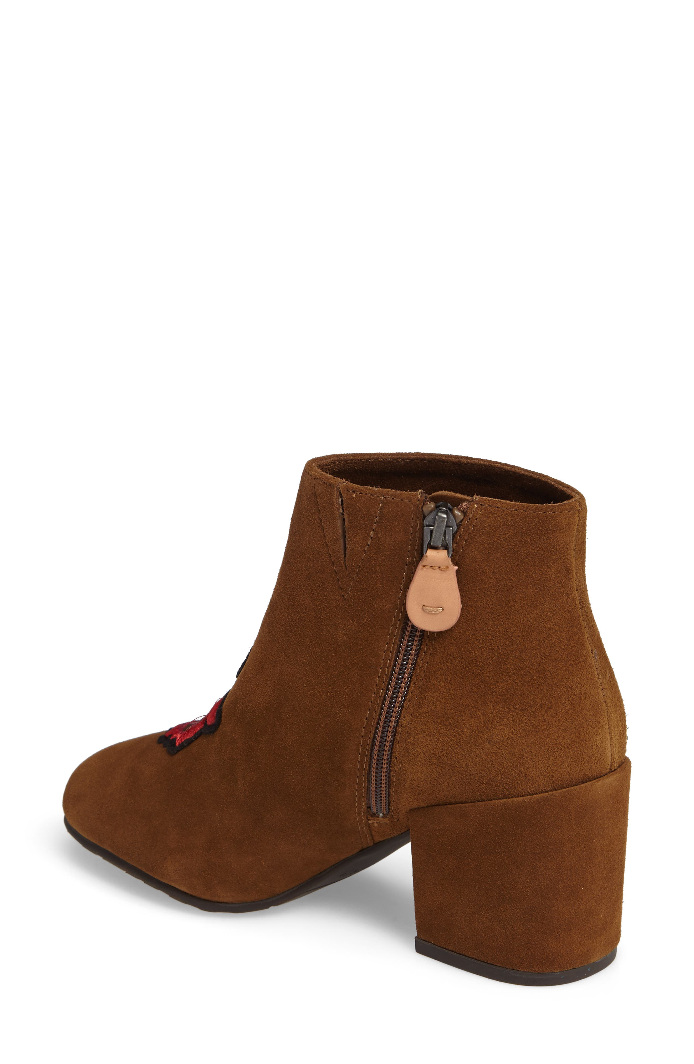 GENTLE SOULS BY KENNETH COLE, Blaise Patches Bootie, Alternate thumbnail 2, color, WALNUT SUEDE