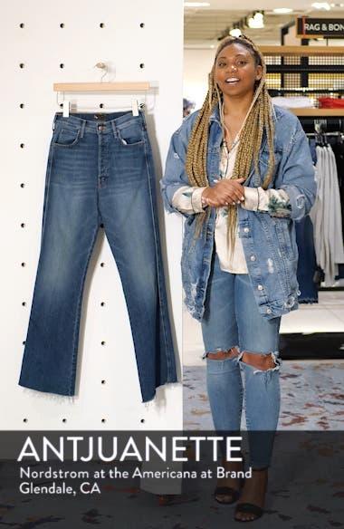 The Tripper Super High Waist Frayed Bootcut Jeans, sales video thumbnail