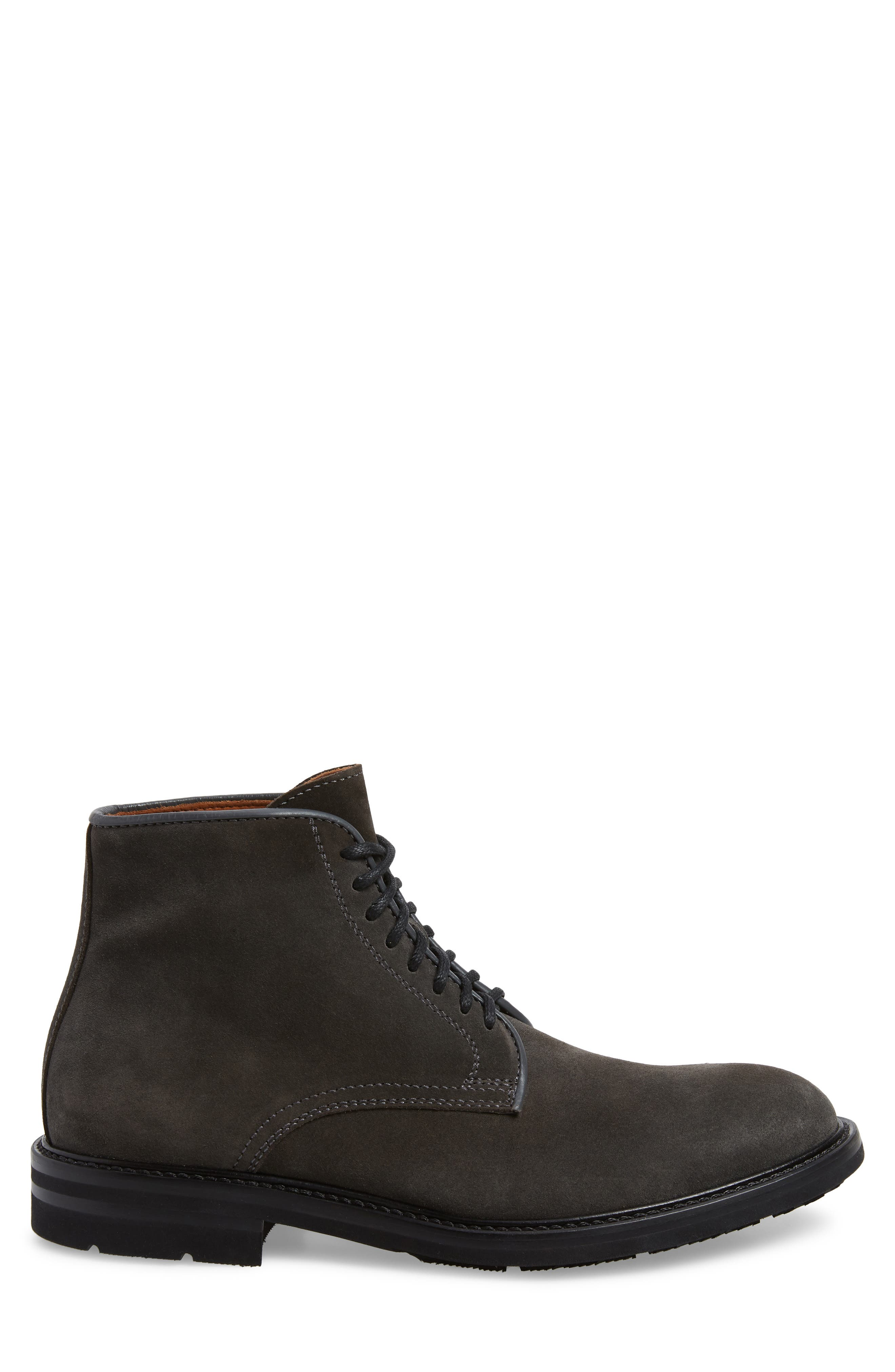AQUATALIA, Renzo Weatherproof Lace-Up Boot, Alternate thumbnail 3, color, DARK CHARCOAL