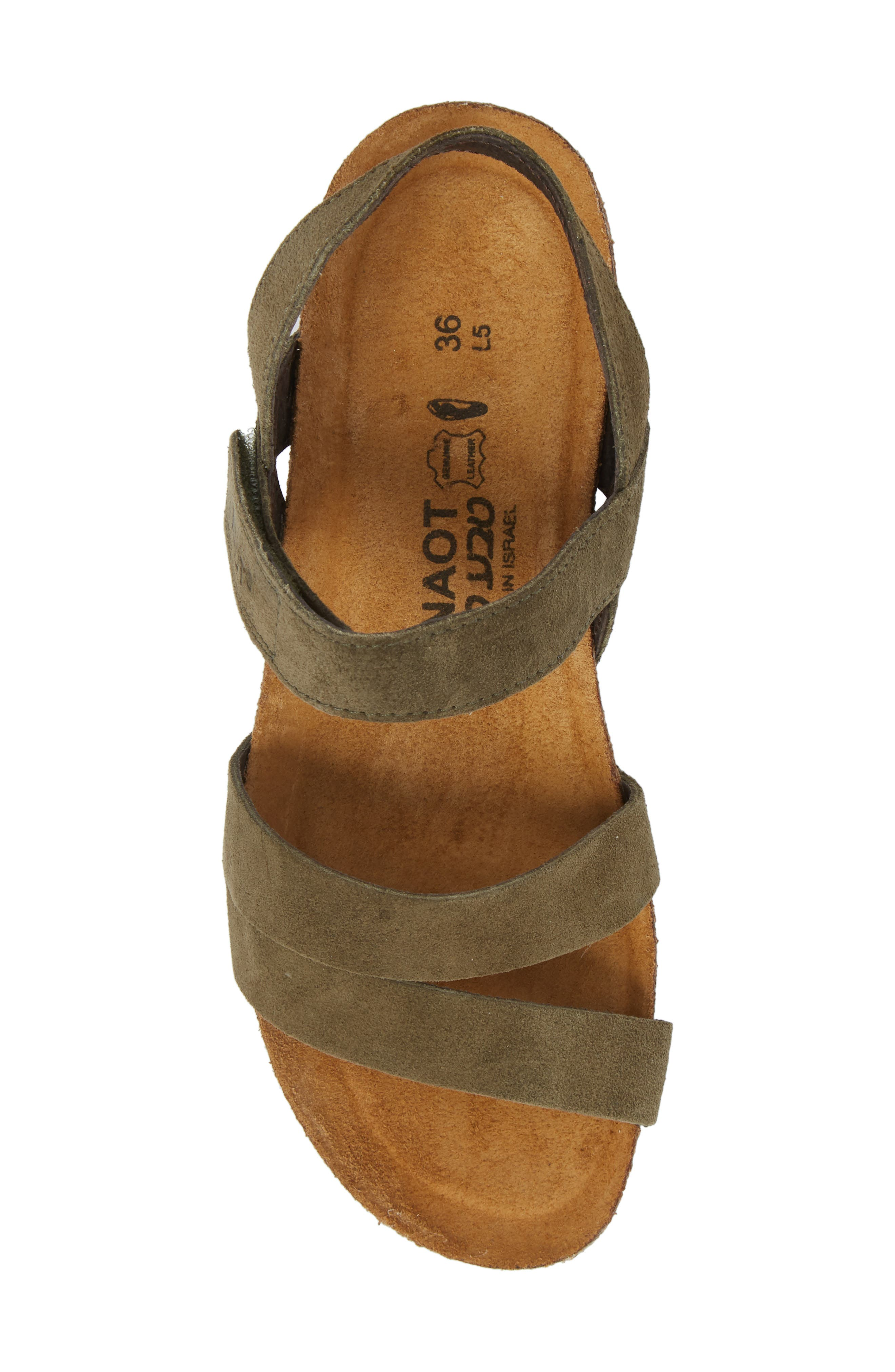 NAOT, 'Kayla' Sandal, Alternate thumbnail 5, color, OILY OLIVE SUEDE