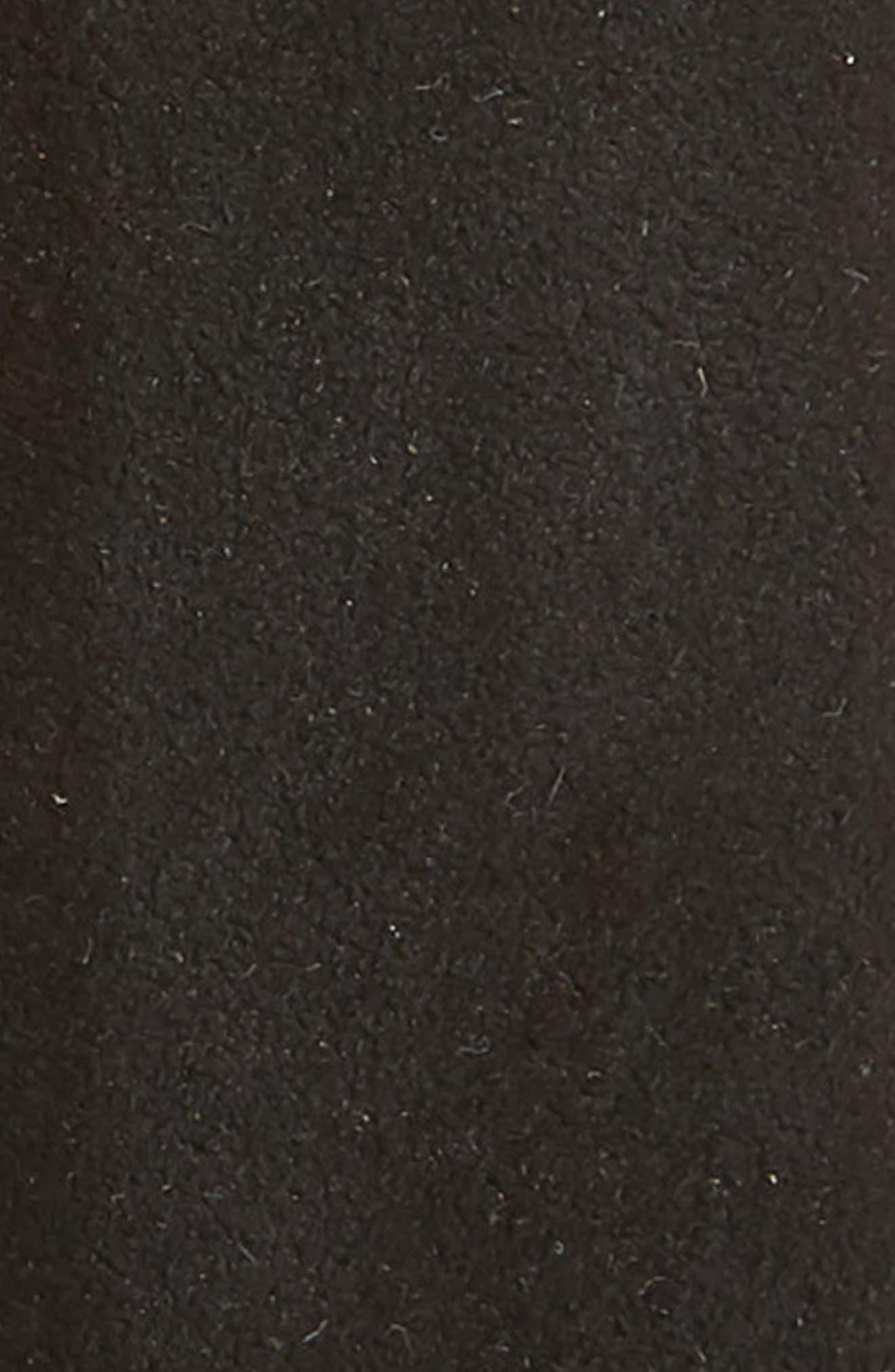 SALVATORE FERRAGAMO, Suede Leather Belt, Alternate thumbnail 2, color, NERO