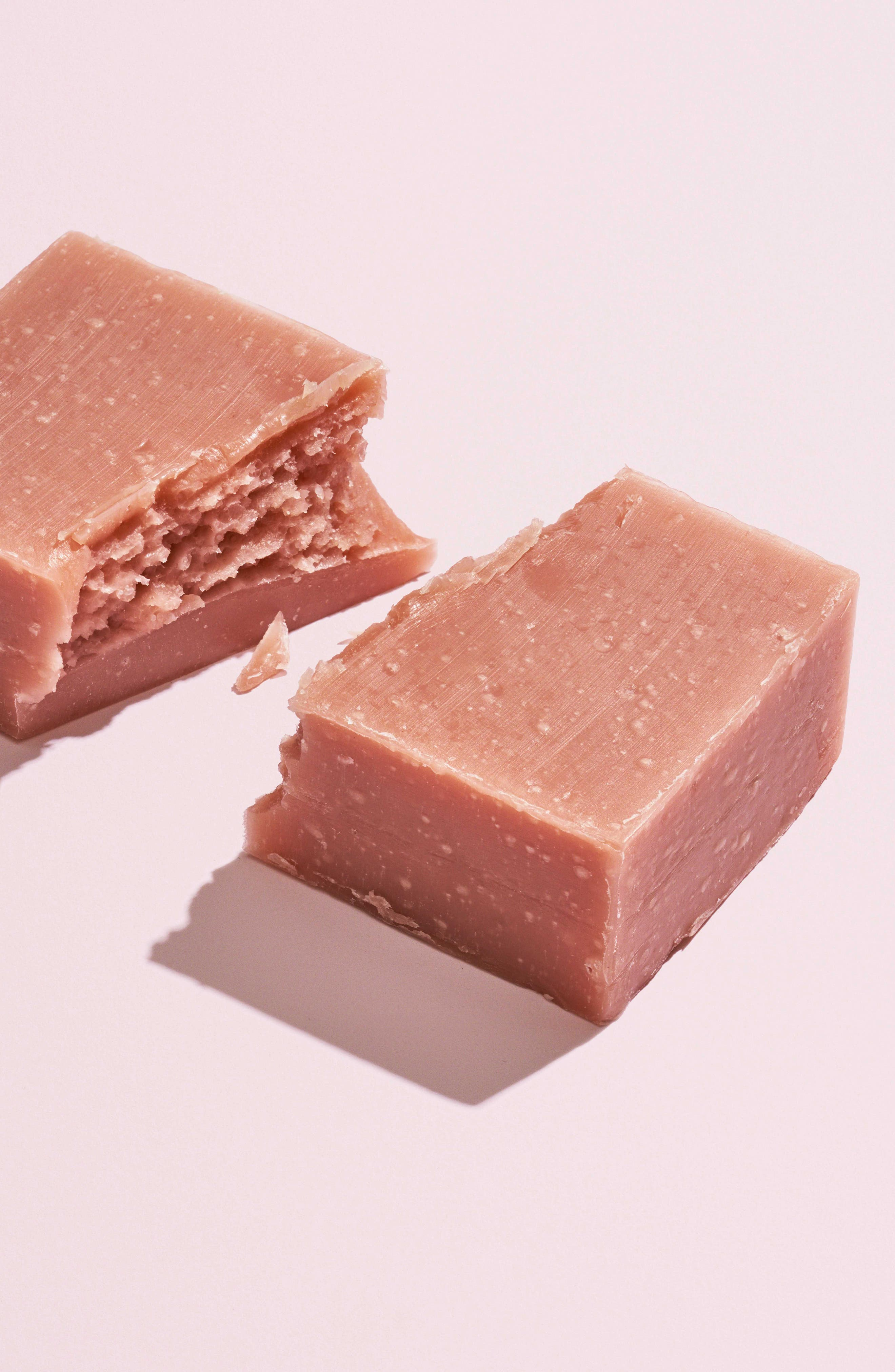 HERBIVORE BOTANICALS, Pink Clay Bar Soap, Alternate thumbnail 2, color, NONE