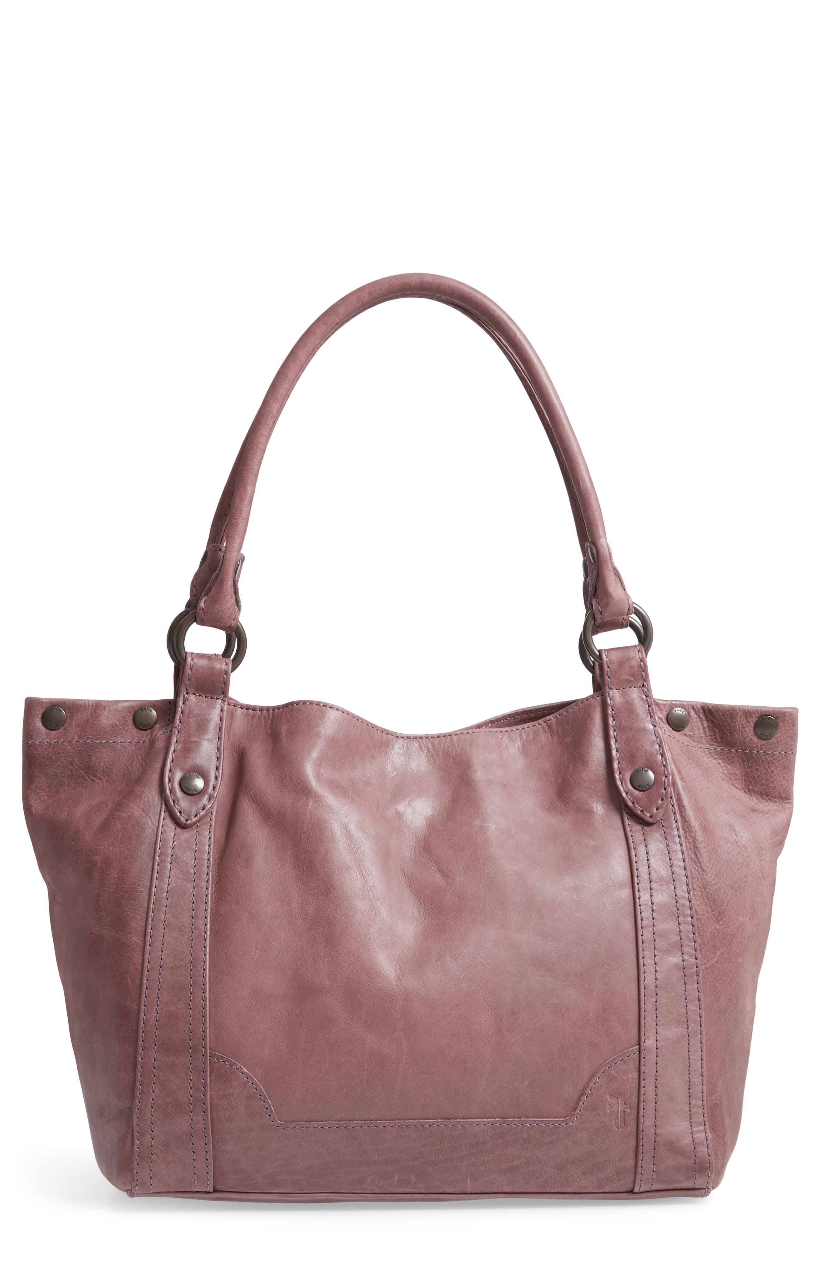FRYE, Melissa Leather Shoulder Bag, Main thumbnail 1, color, LILAC