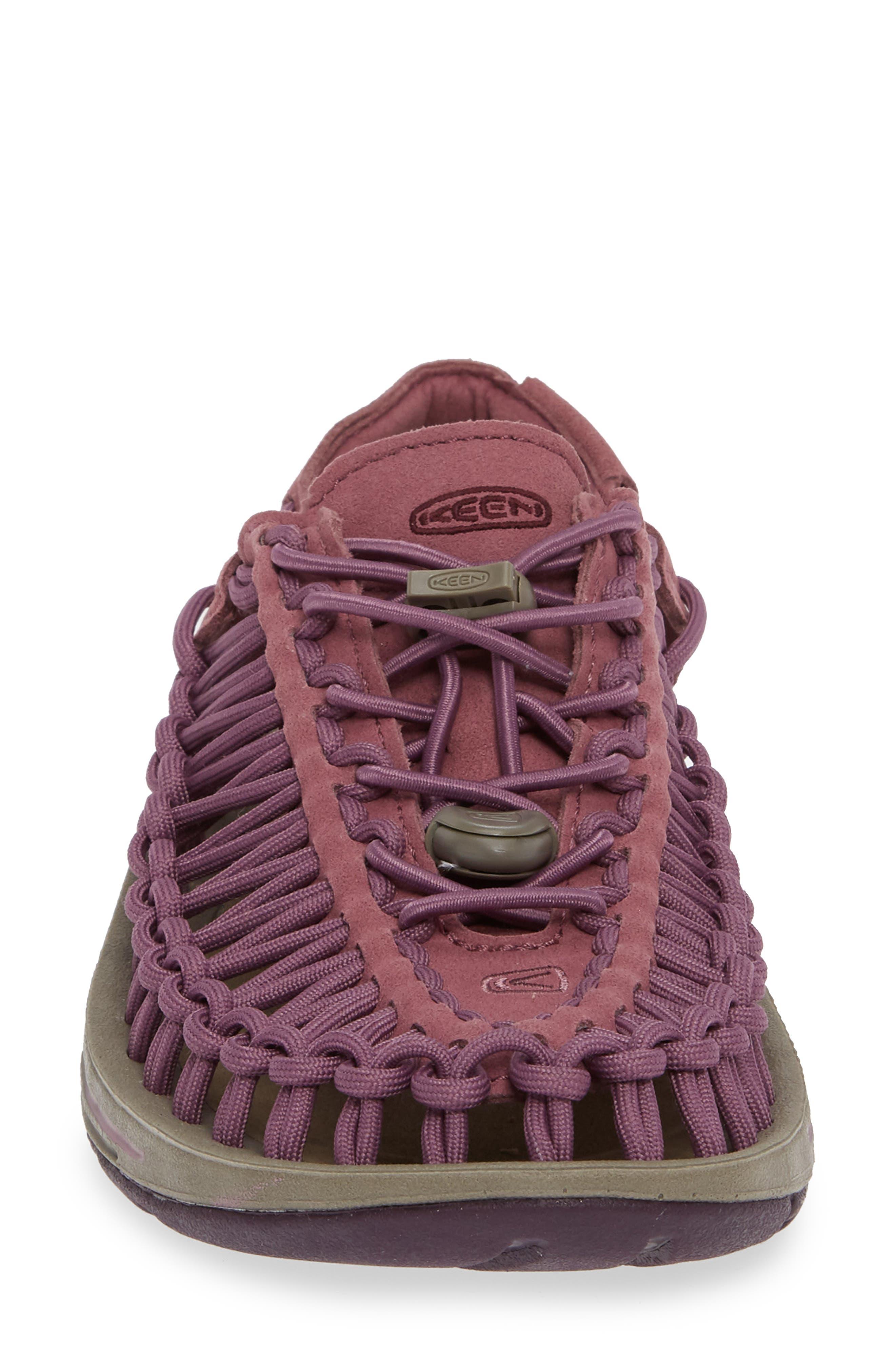 KEEN, 'Uneek' Water Sneaker, Alternate thumbnail 4, color, TULIPWOOD/ WINETASTING