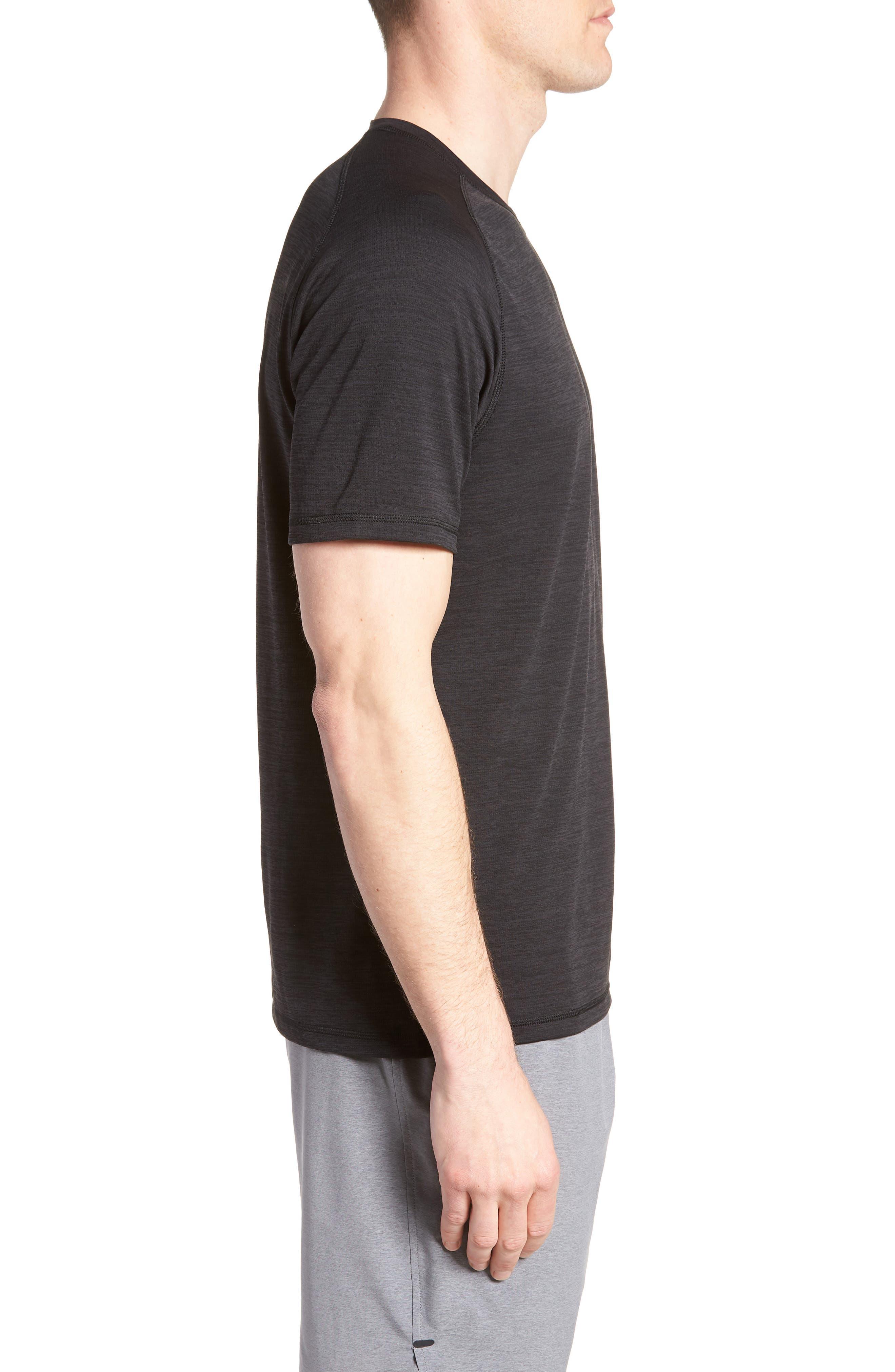 ZELLA, Kinoite Raglan Crewneck T-Shirt, Alternate thumbnail 4, color, BLACK OXIDE MELANGE