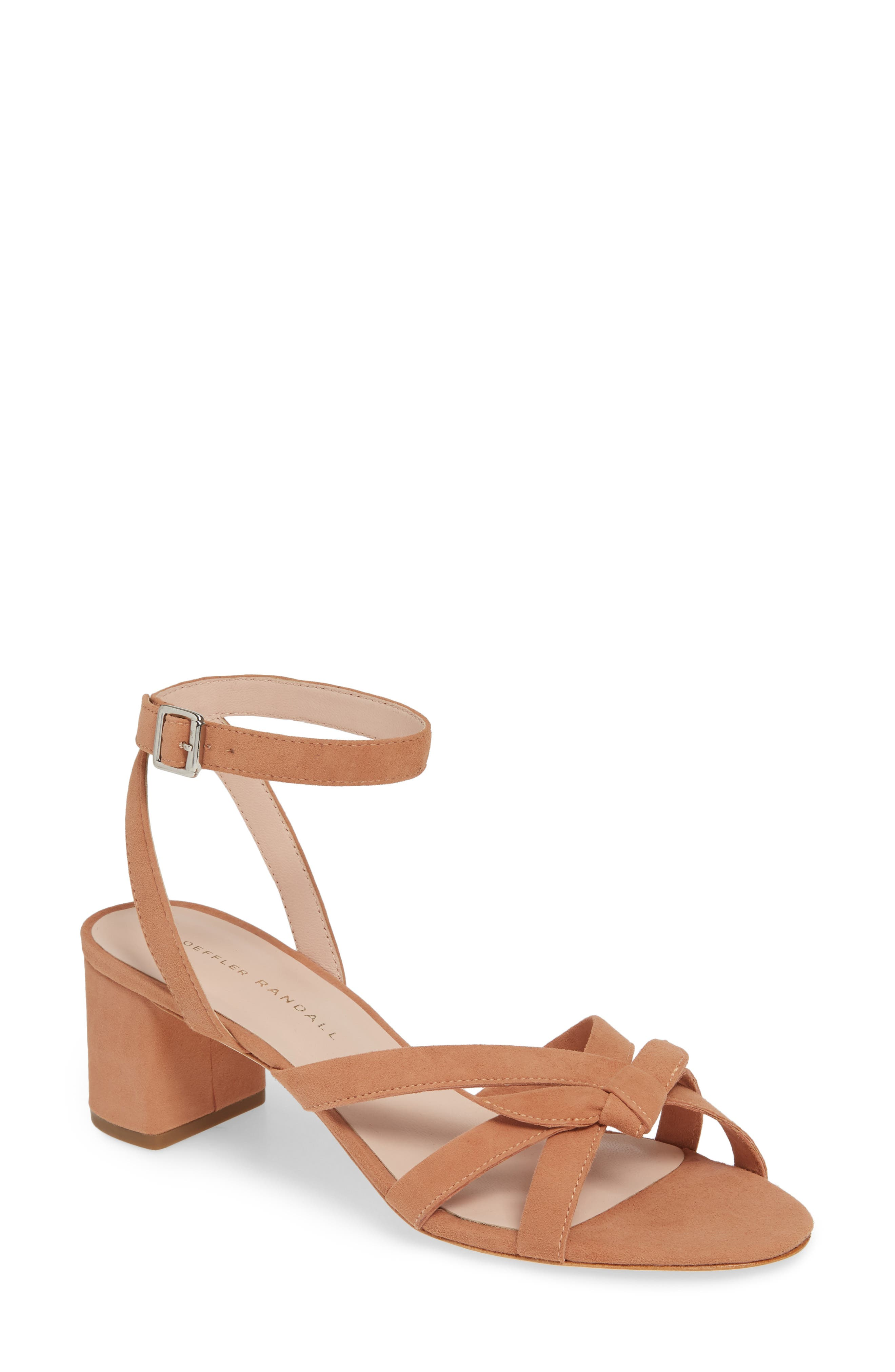 LOEFFLER RANDALL Anny Knotted Sandal, Main, color, COQUILLE