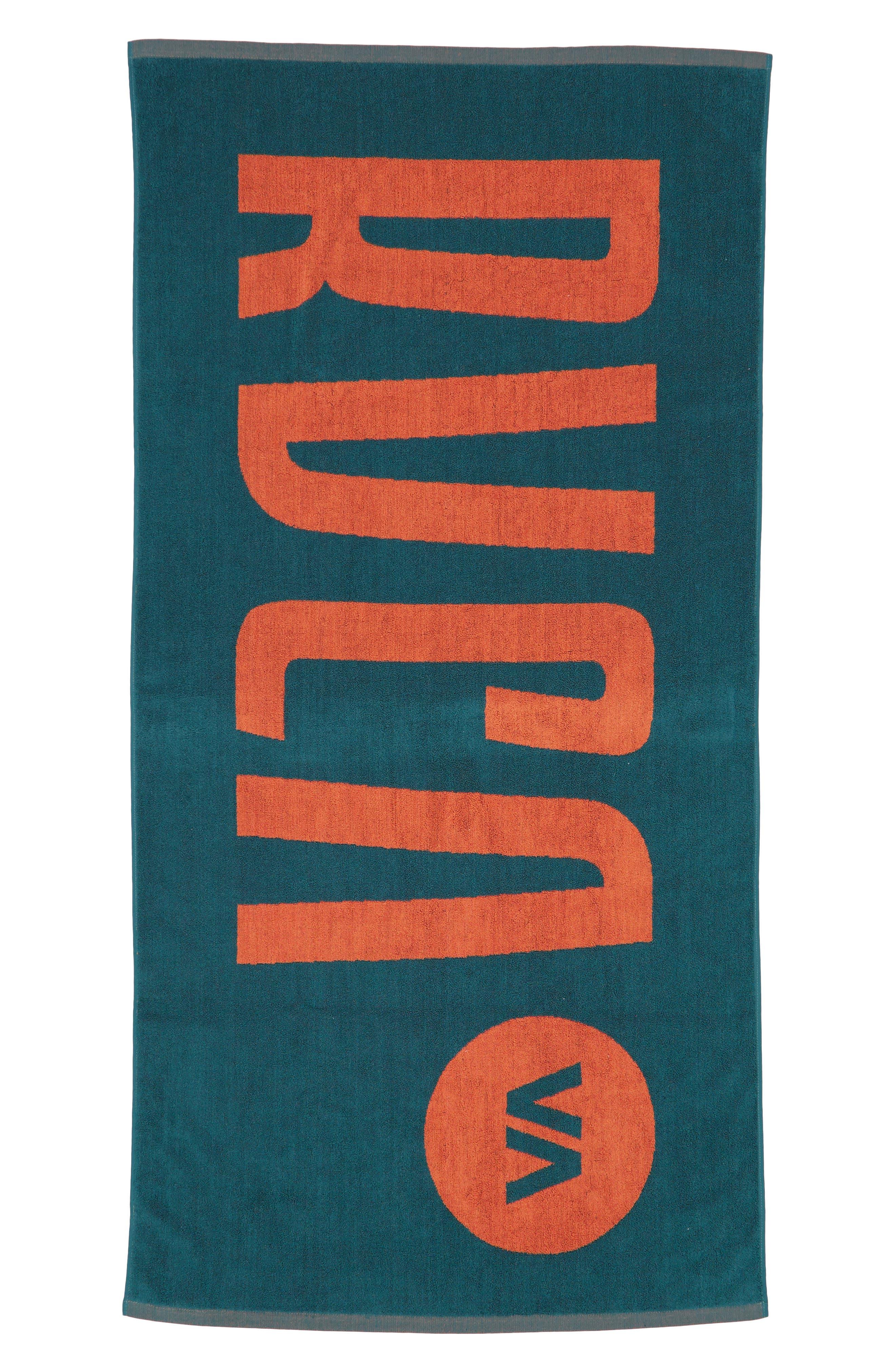 RVCA Beach Towel, Main, color, CASCADE BLUE