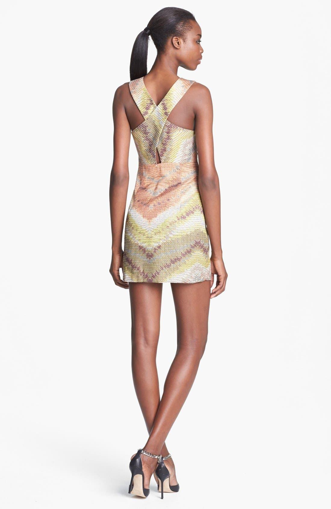 TRACY REESE, Zigzag Raffia Shift Dress, Alternate thumbnail 3, color, 798