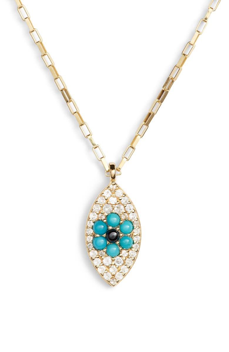 ela rae Vertical Evil Eye Pendant Necklace | Nordstrom
