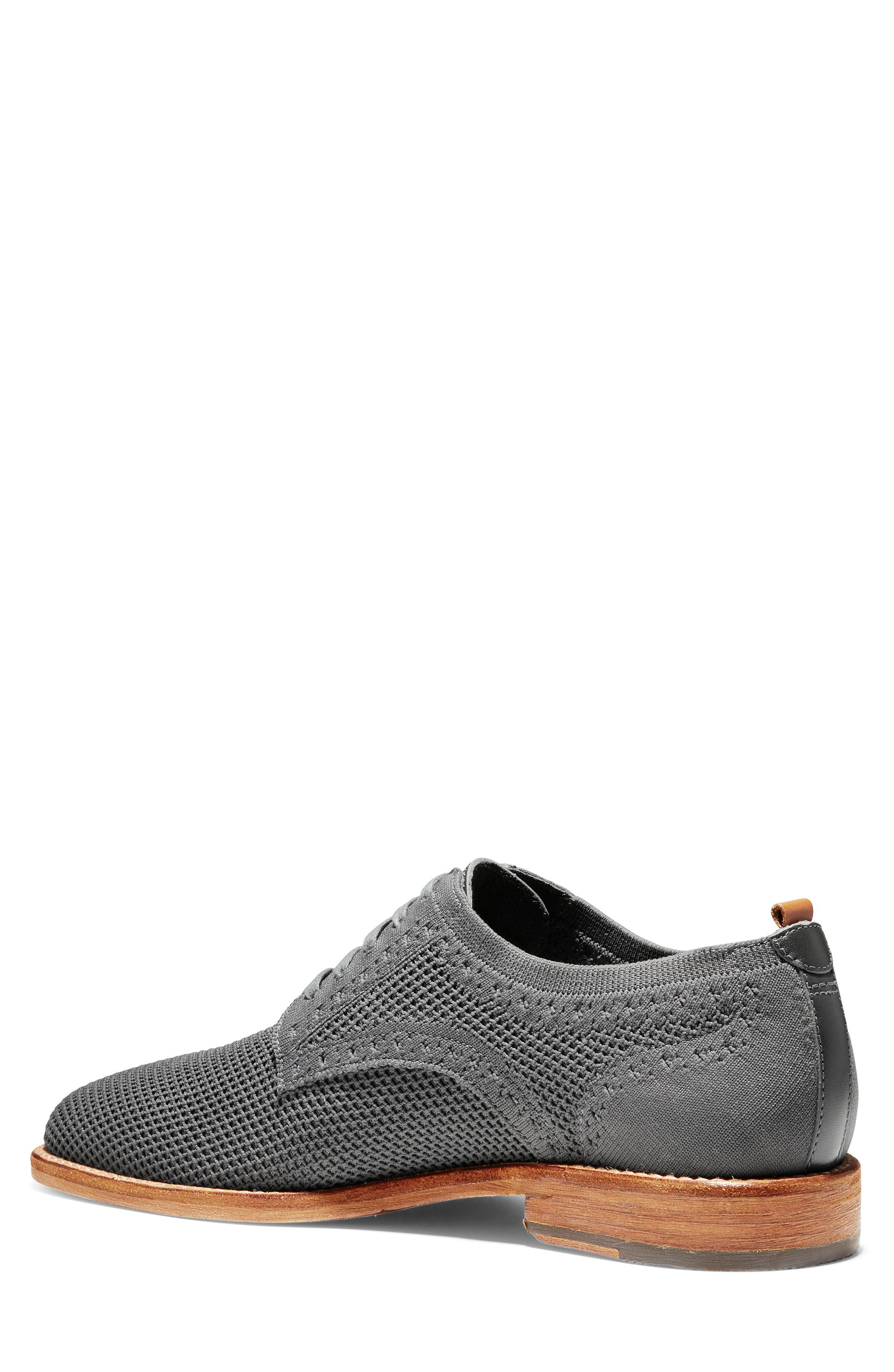 COLE HAAN, Feathercraft Grand Stitchlite Plain Toe Derby, Alternate thumbnail 2, color, MAGNET KNIT