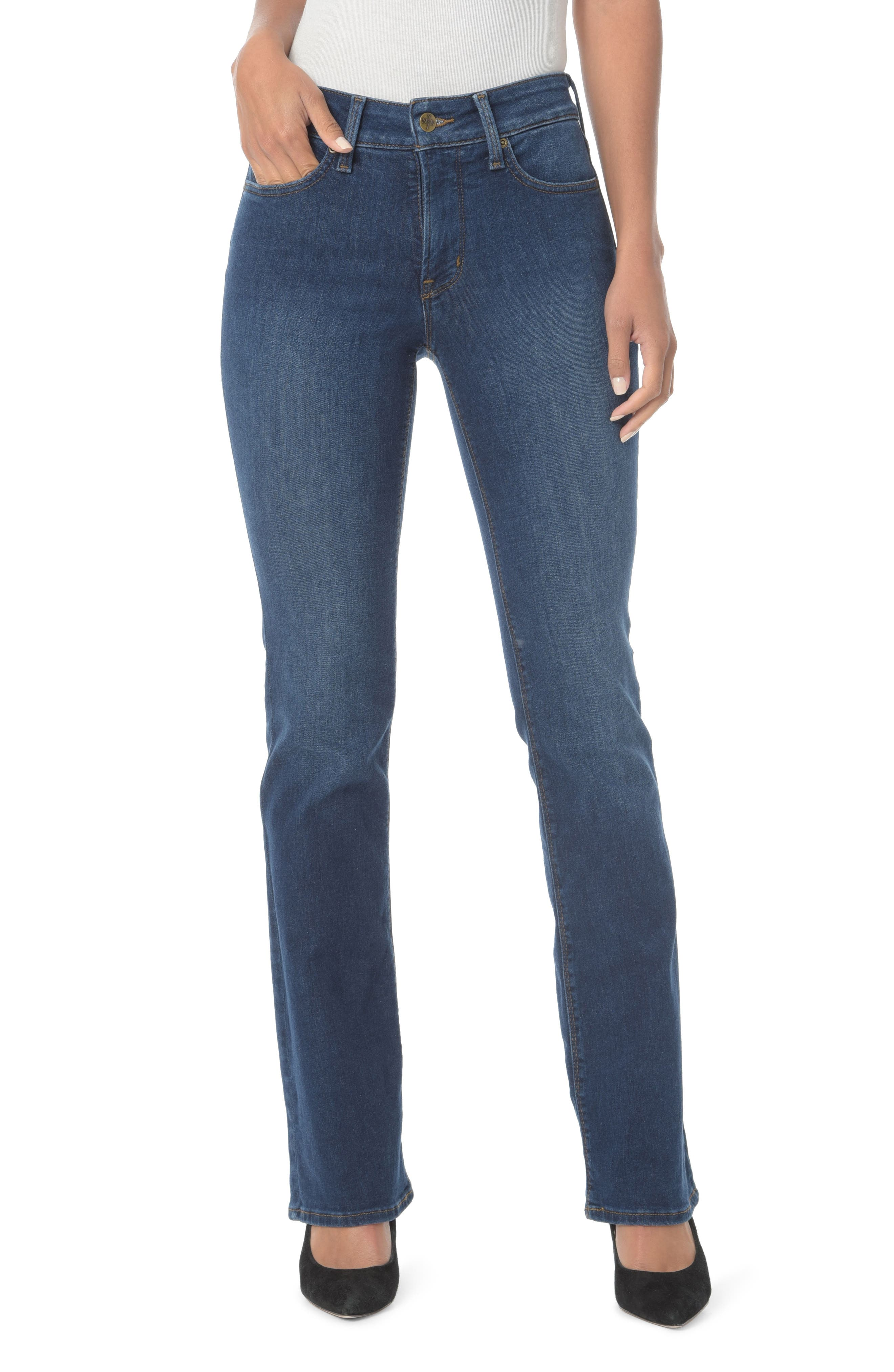 NYDJ, Barbara High Waist Stretch Bootcut Jeans, Main thumbnail 1, color, COOPER