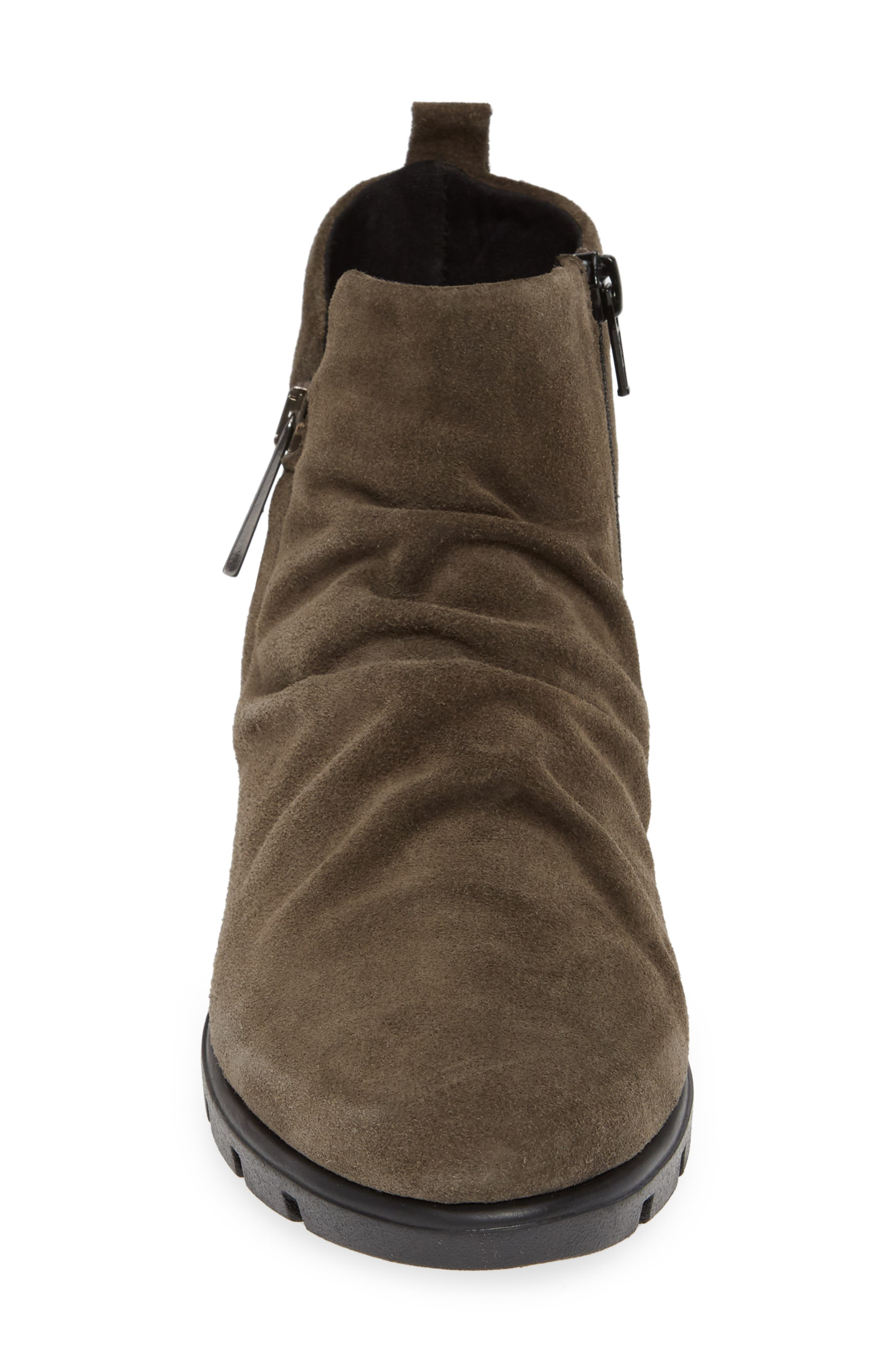 THE FLEXX, Slingshot Ankle Bootie, Alternate thumbnail 4, color, BROWN SUEDE