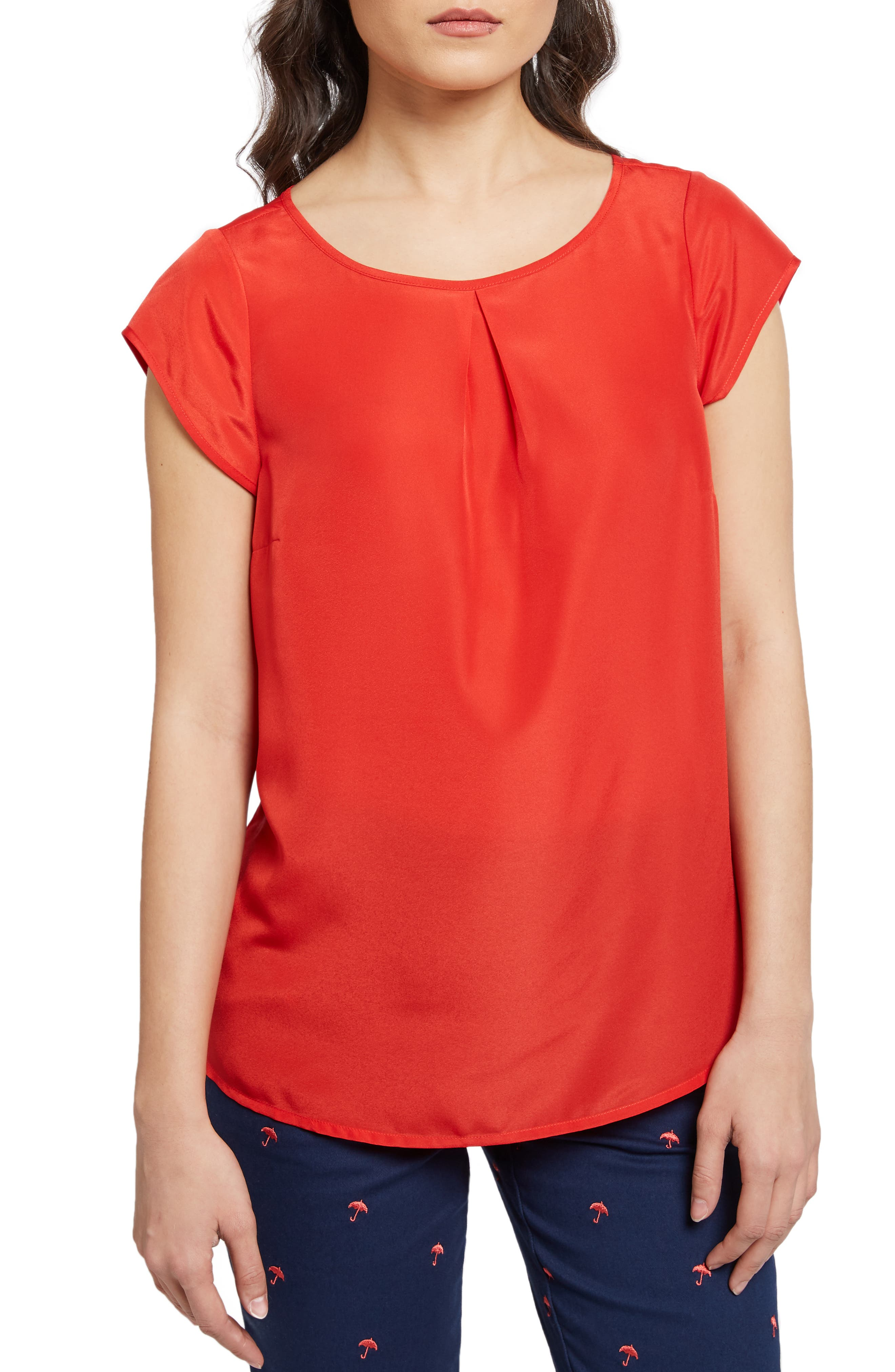 MODCLOTH Graceful Expectations Top, Main, color, RED SOLID