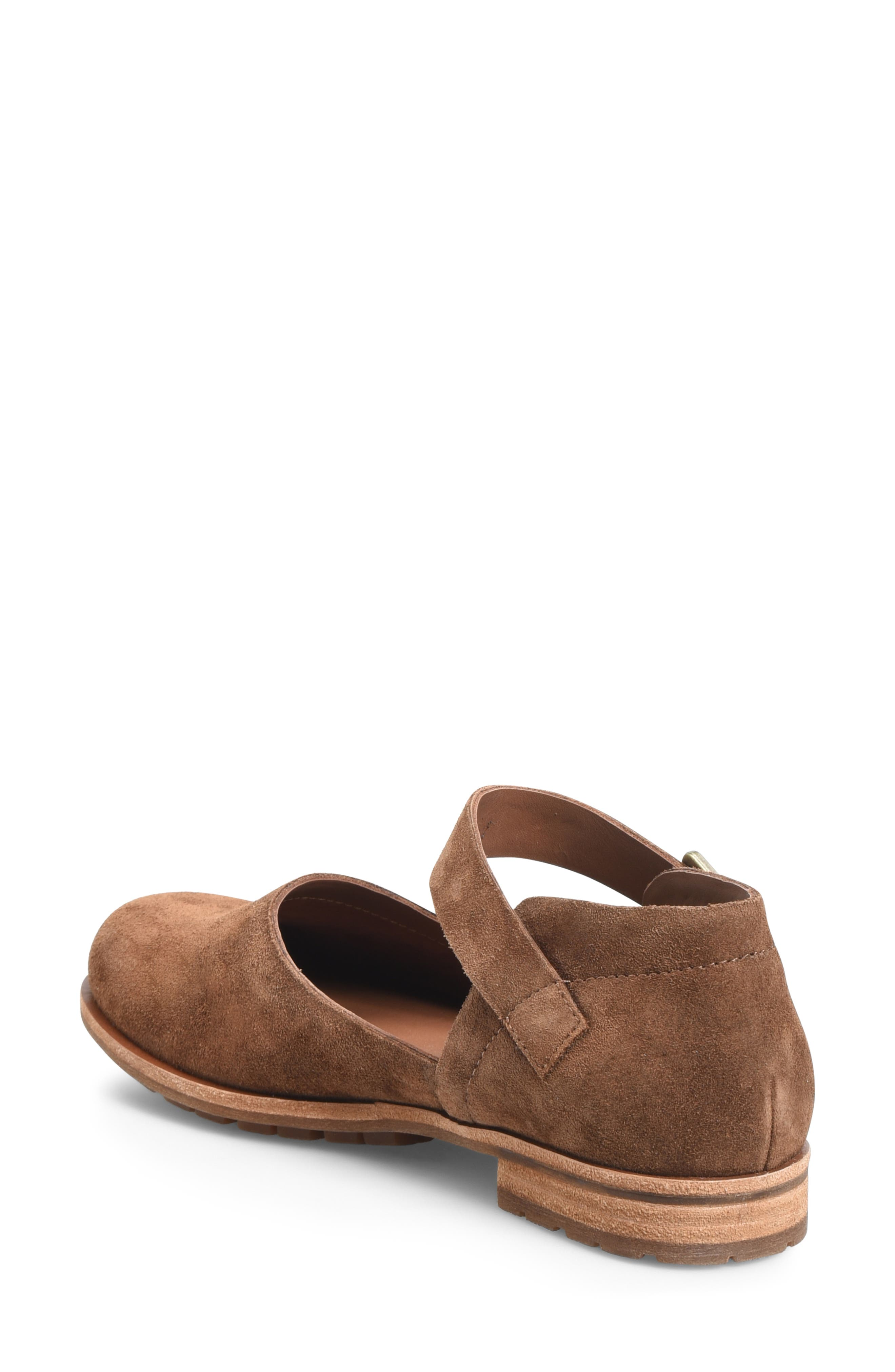 KORK-EASE<SUP>®</SUP>, Bellota Mary Jane Flat, Alternate thumbnail 2, color, BROWN SUEDE