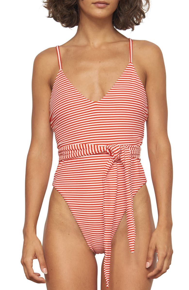 Mara Hoffman Suits GAMELA BELTED ONE-PIECE SWIMSUIT