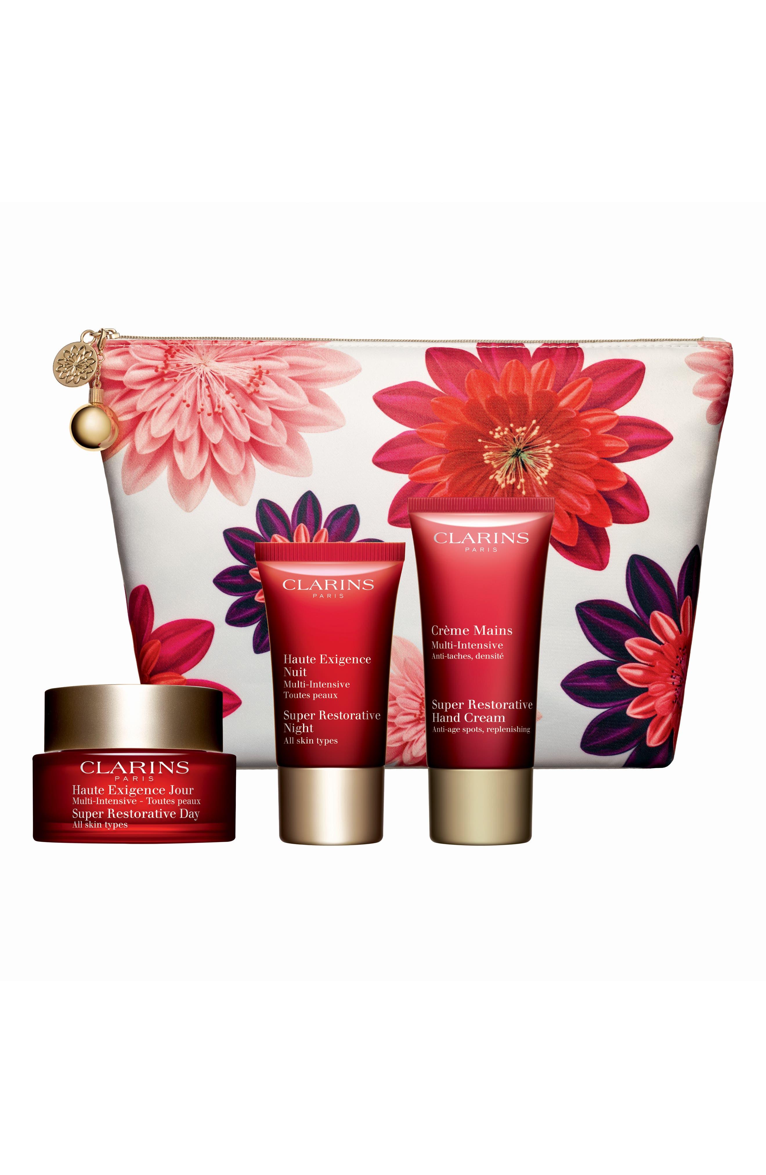 CLARINS, Super Restorative Skin Solutions Set, Main thumbnail 1, color, 000