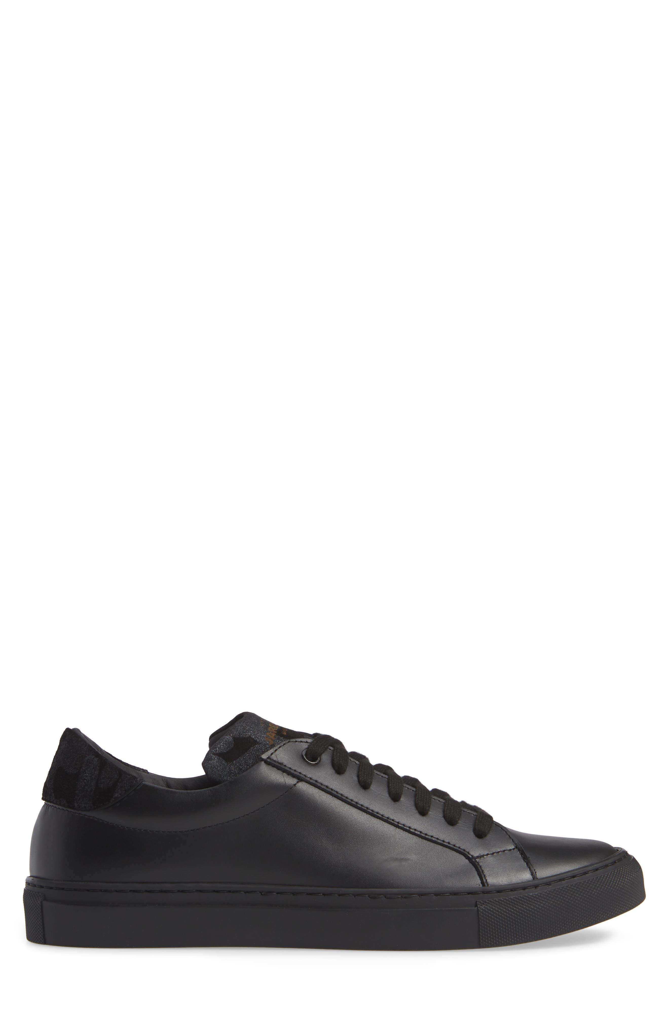 JARED LANG, Rome Sneaker, Alternate thumbnail 3, color, BLACK