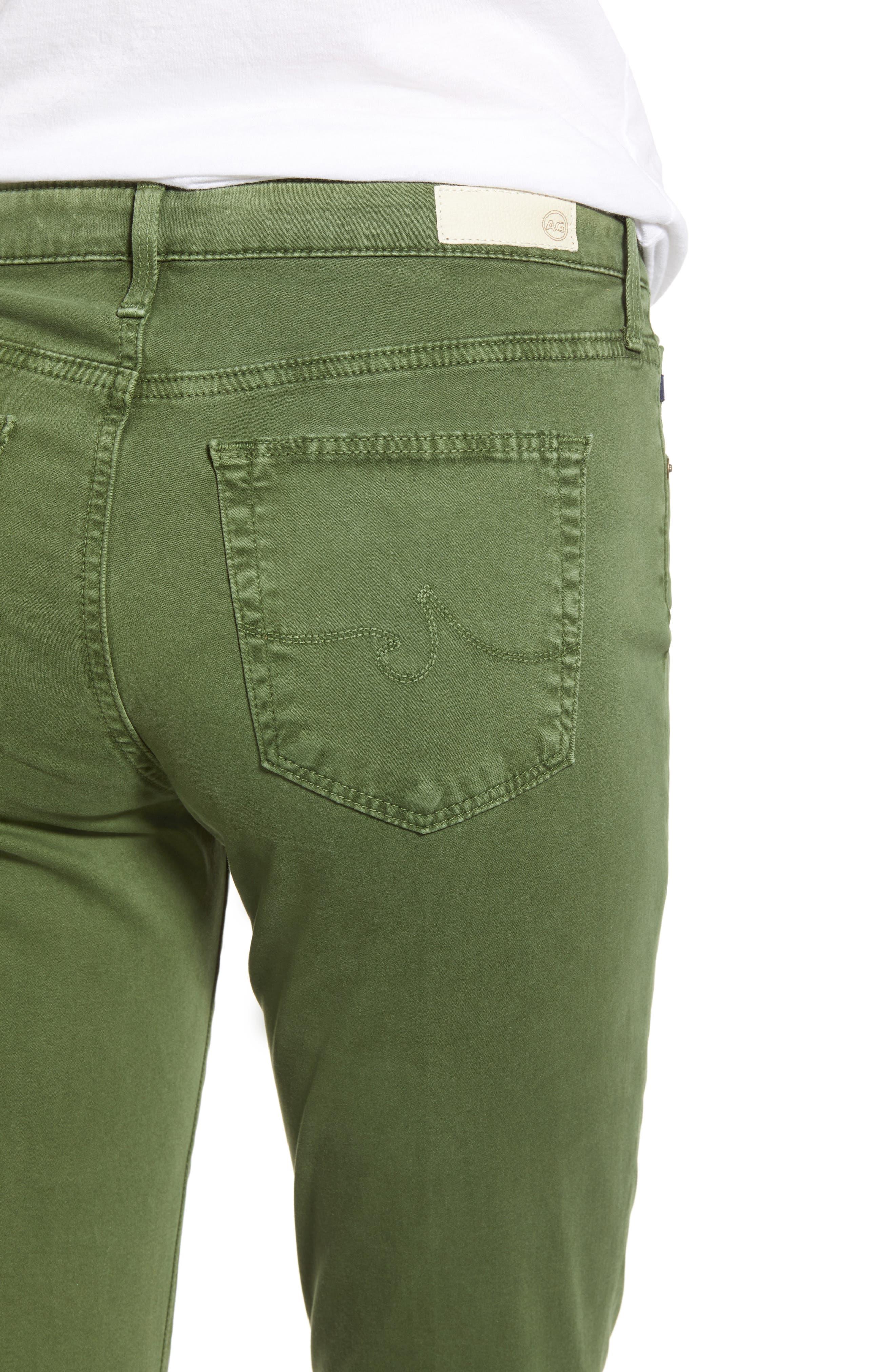 AG, 'The Prima' Cigarette Leg Skinny Jeans, Alternate thumbnail 5, color, SULFUR NEW SPRUCE