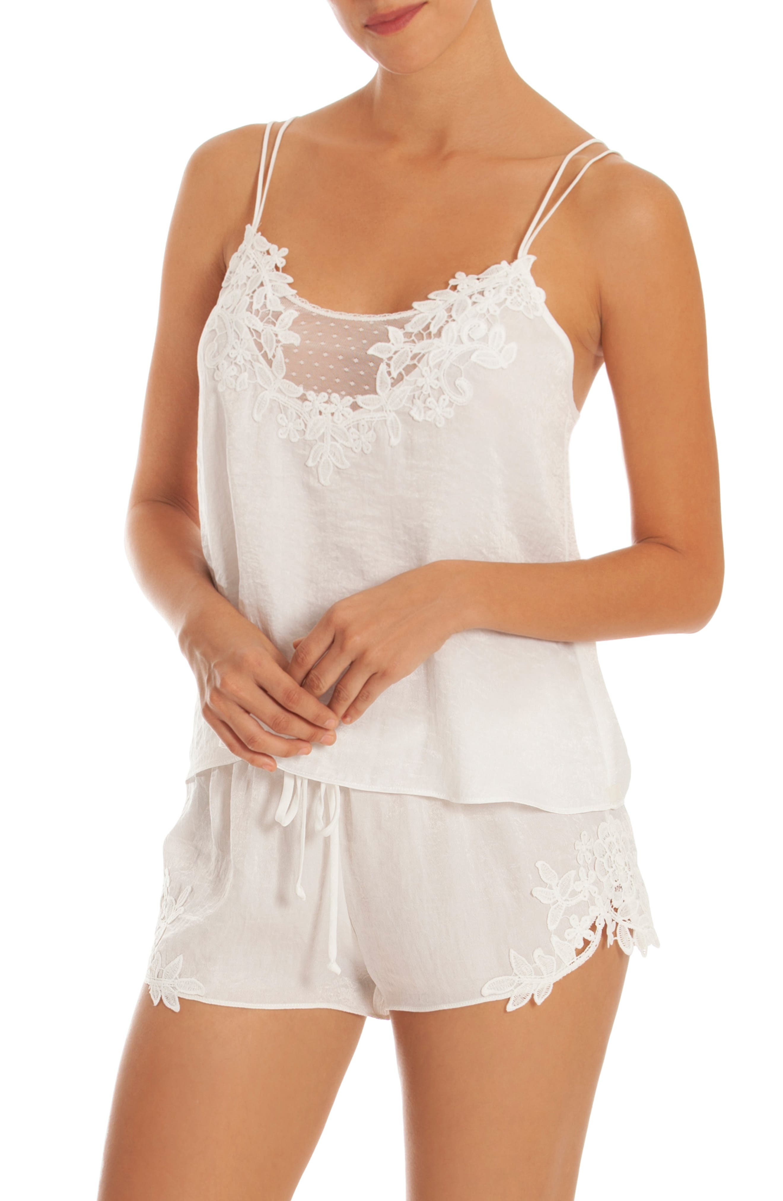 IN BLOOM BY JONQUIL Short Pajamas, Main, color, IVORY