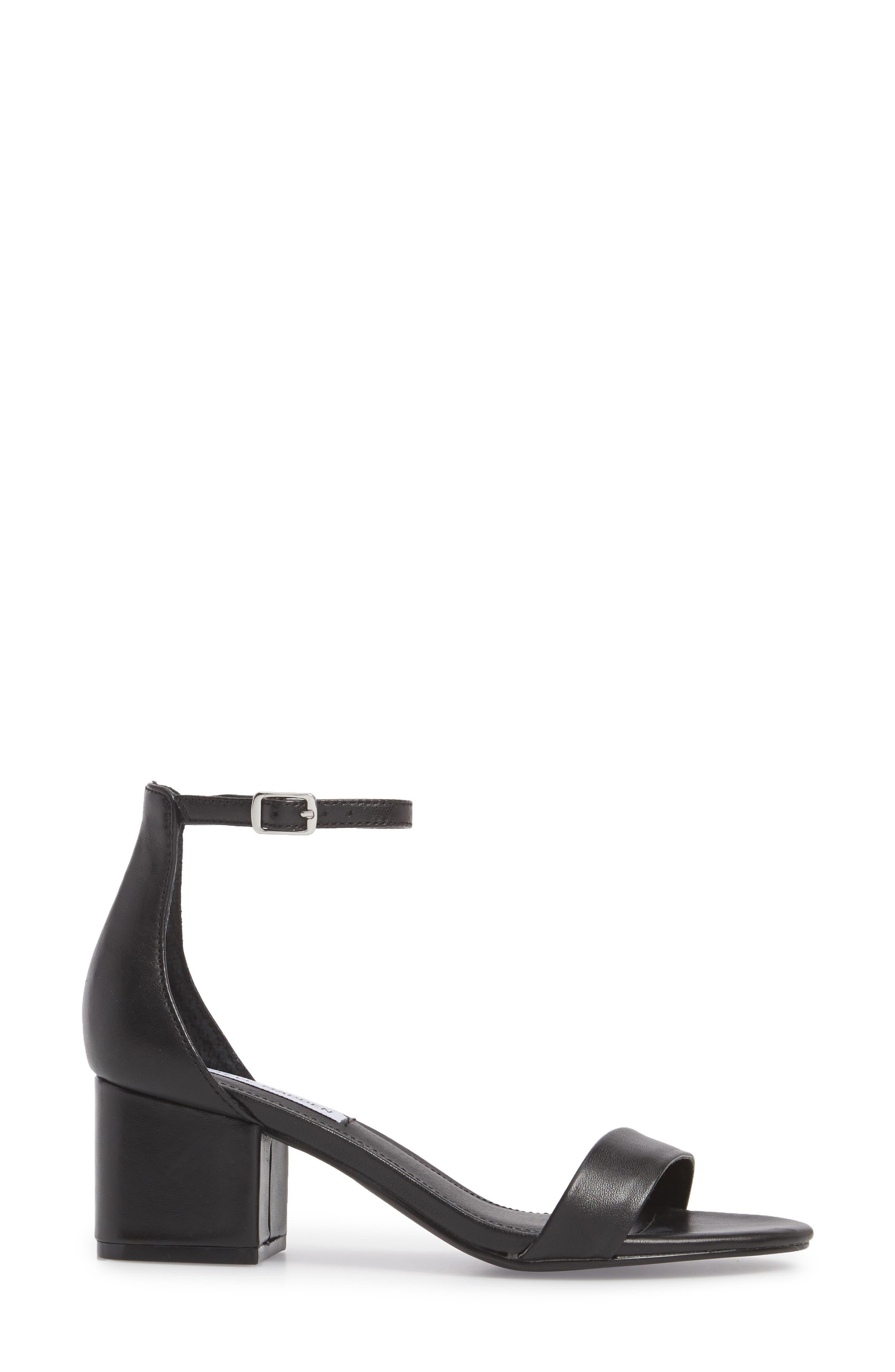 STEVE MADDEN, Irenee Ankle Strap Sandal, Alternate thumbnail 3, color, 001