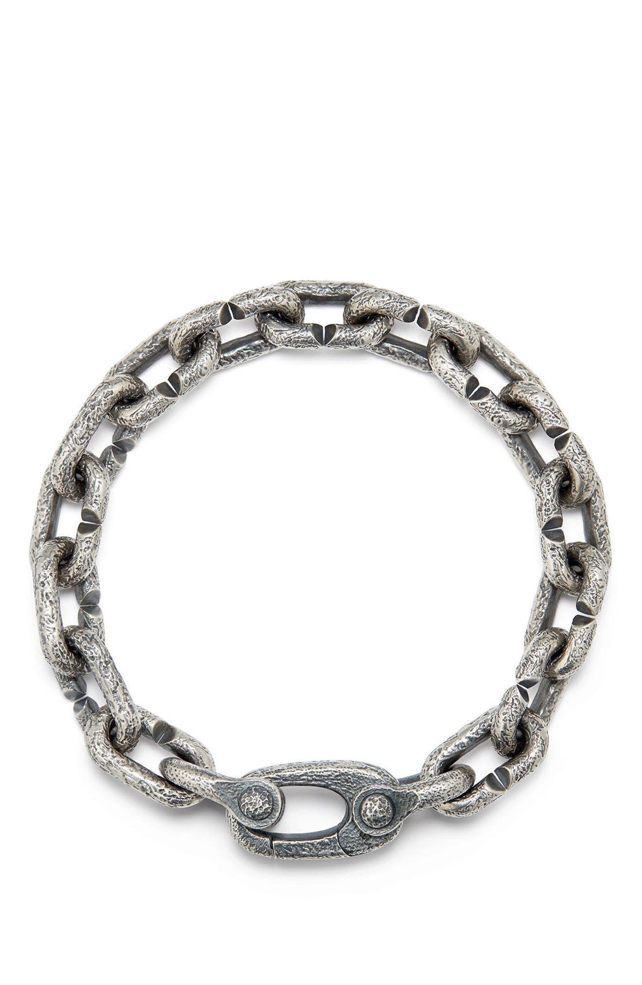 DAVID YURMAN, Shipwreck Chain Bracelet, Alternate thumbnail 2, color, SILVER