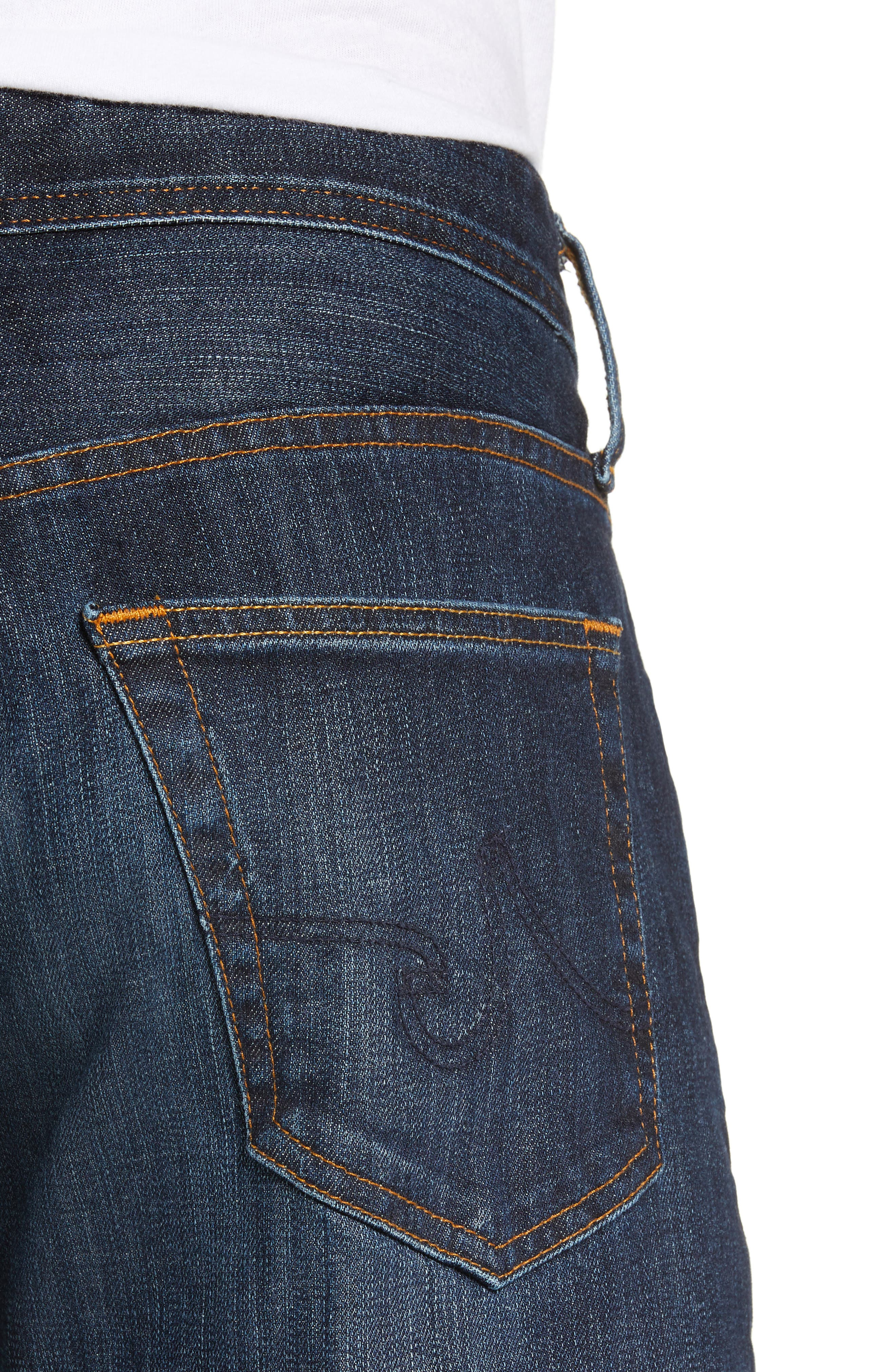 AG, Graduate Slim Straight Leg Jeans, Alternate thumbnail 5, color, WETHERBURN