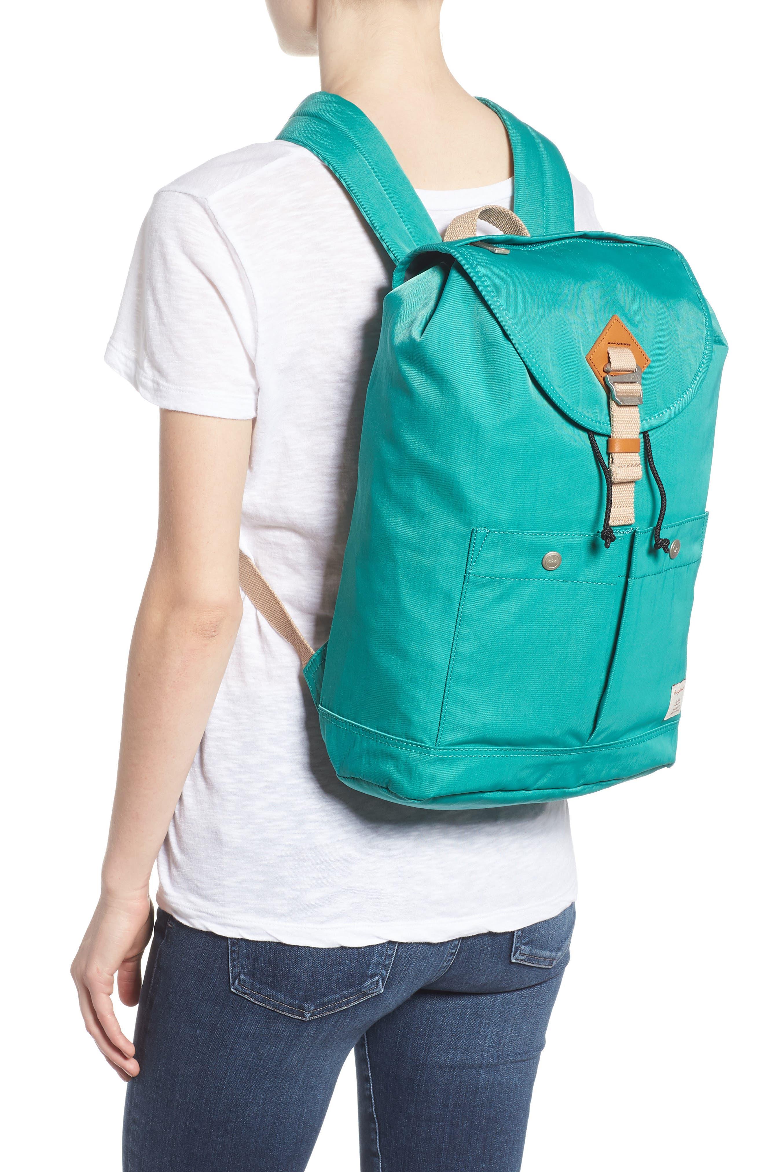 DOUGHNUT, Montana Water Repellent Backpack, Alternate thumbnail 2, color, MINT