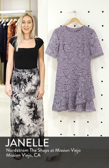 Asymmetrical Ruffle Lace Fit & Flare Dress, sales video thumbnail