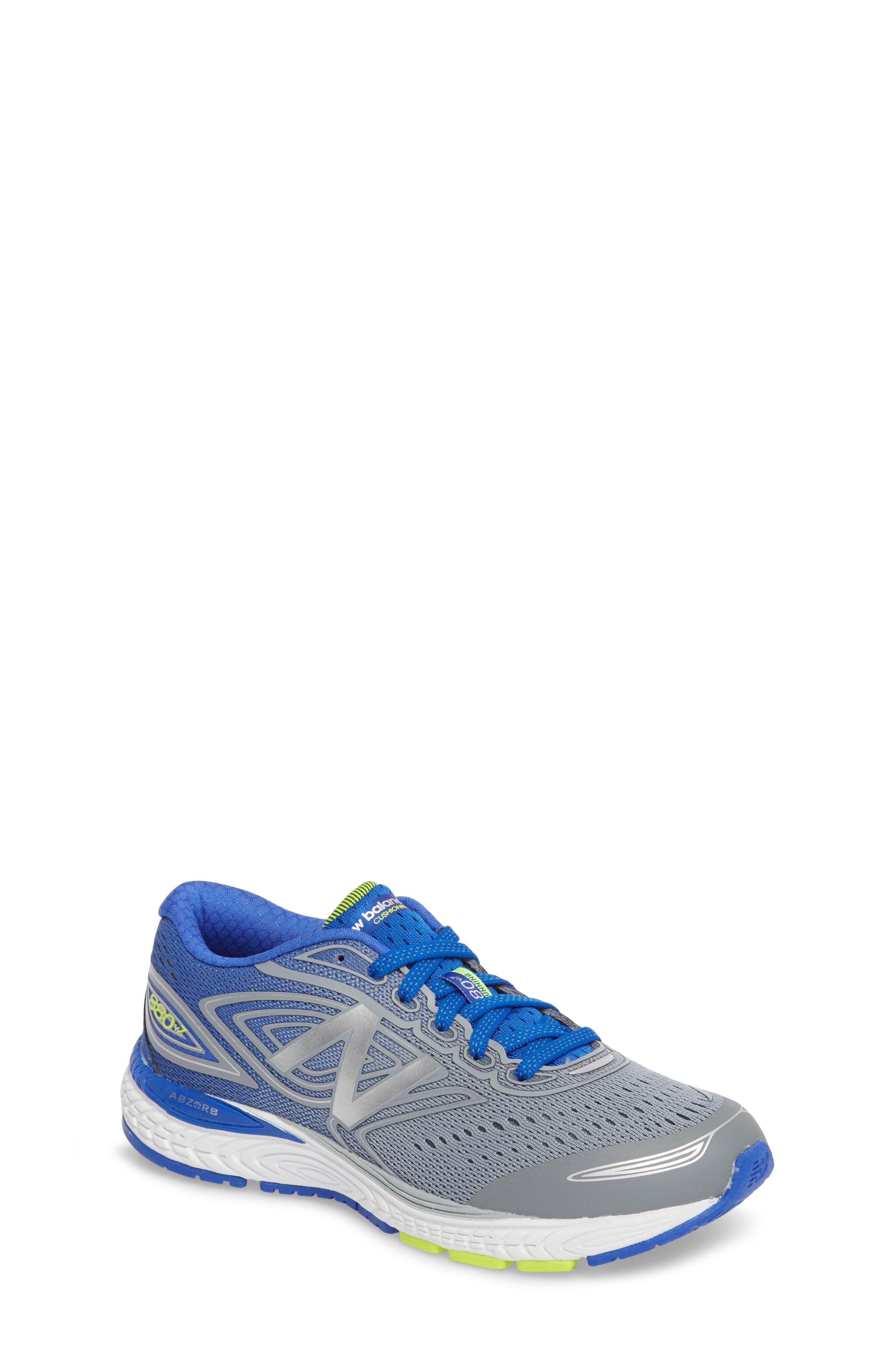 Boys New Balance 880V7 Sneaker Size 125 M  Grey